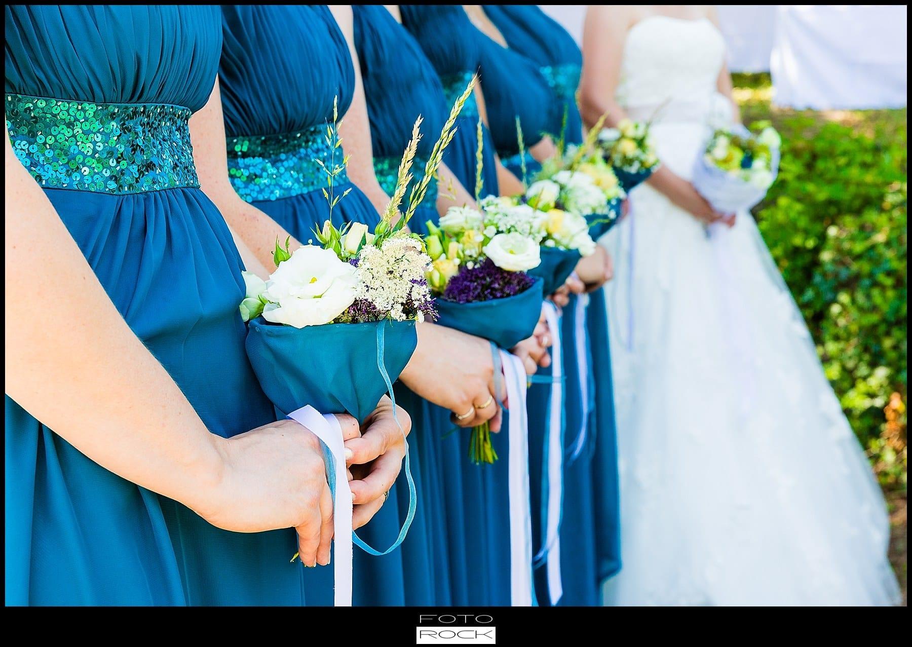 DIY Hochzeit Waldshut-Tiengen Brautjungfern Blumen Strauss