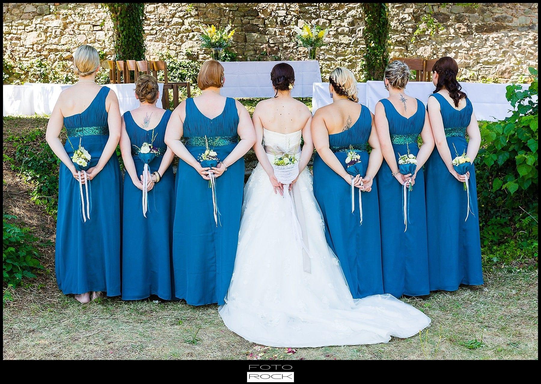 DIY Hochzeit Waldshut-Tiengen Braut Brautjungfern Blumen Brautstrauss Brautkleid