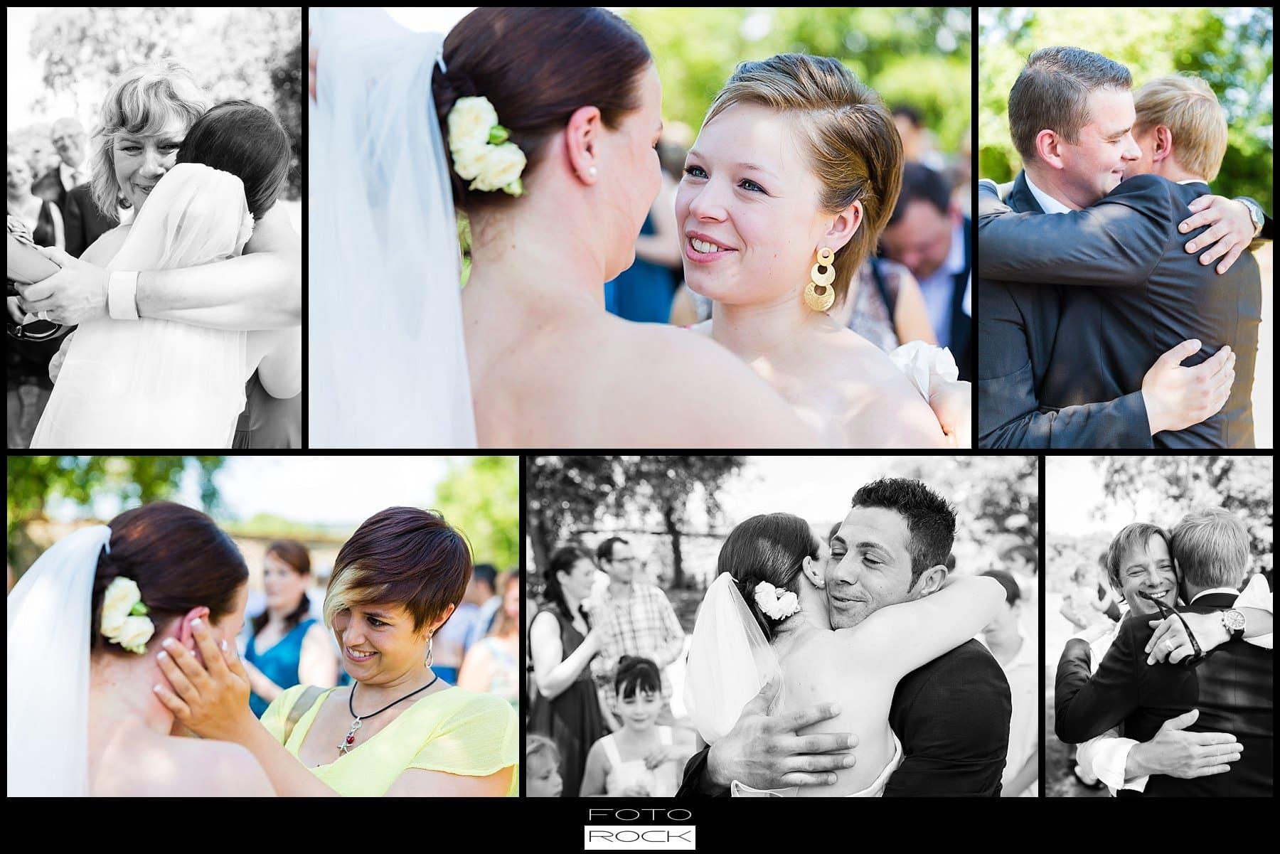 DIY Hochzeit Waldshut-Tiengen Brautpaar Umarmungen Glückwünsche