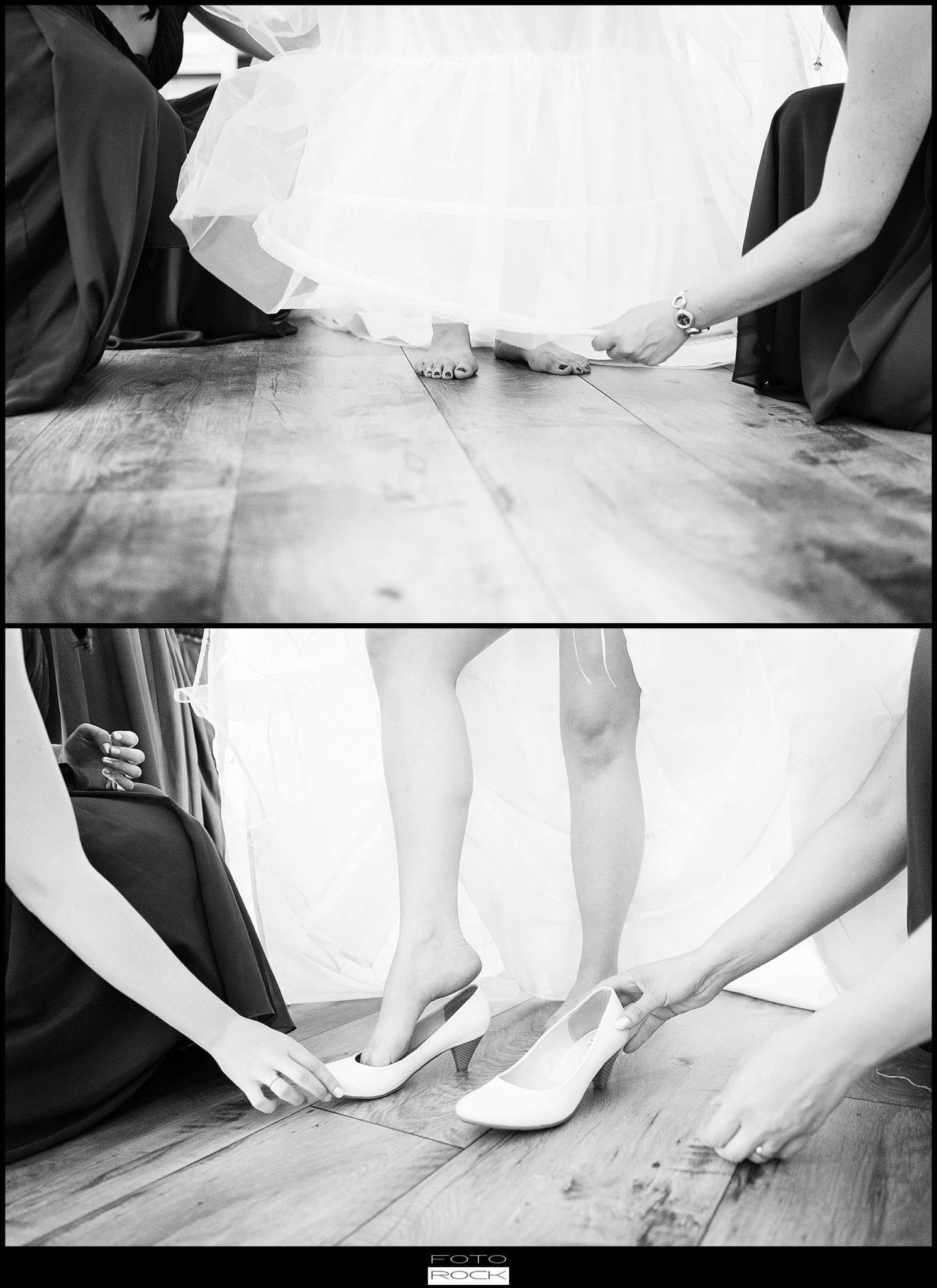DIY Hochzeit Waldshut-Tiengen Brautkleid Beine Füße Schuhe Getting Ready
