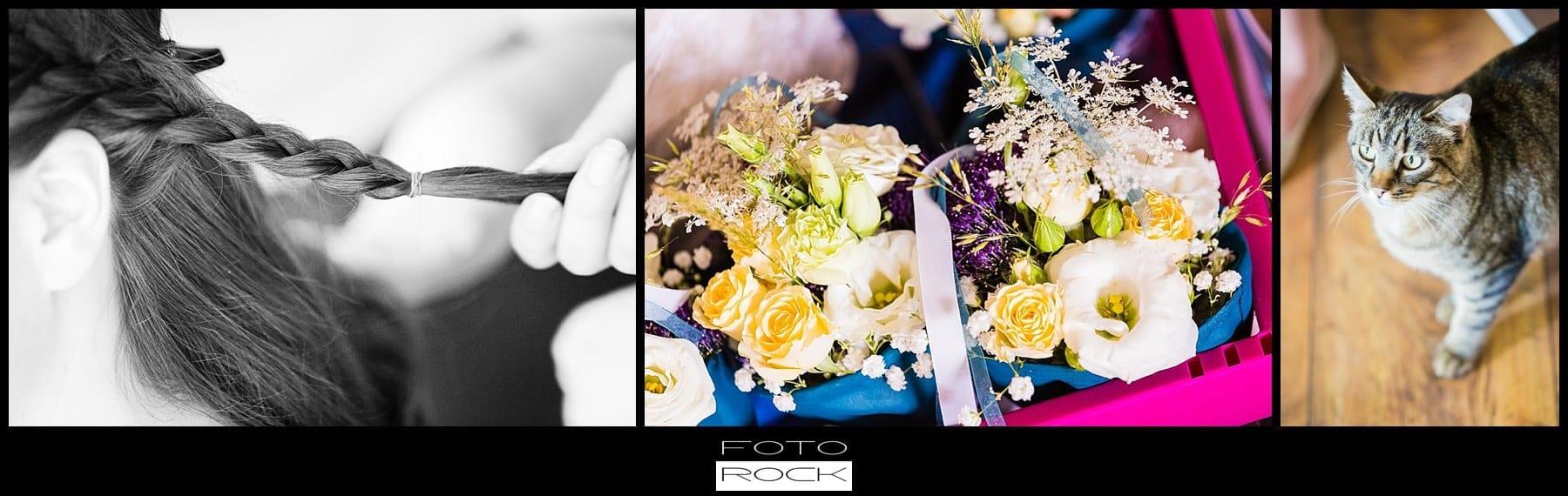 DIY Hochzeit Waldshut-Tiengen Hairstyling Blumen Katze