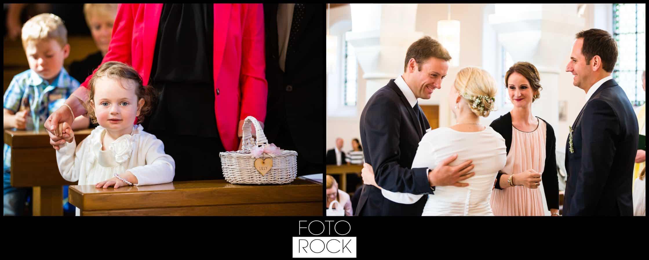 Hochzeit Adler Haeusern trauung brautpaar kind