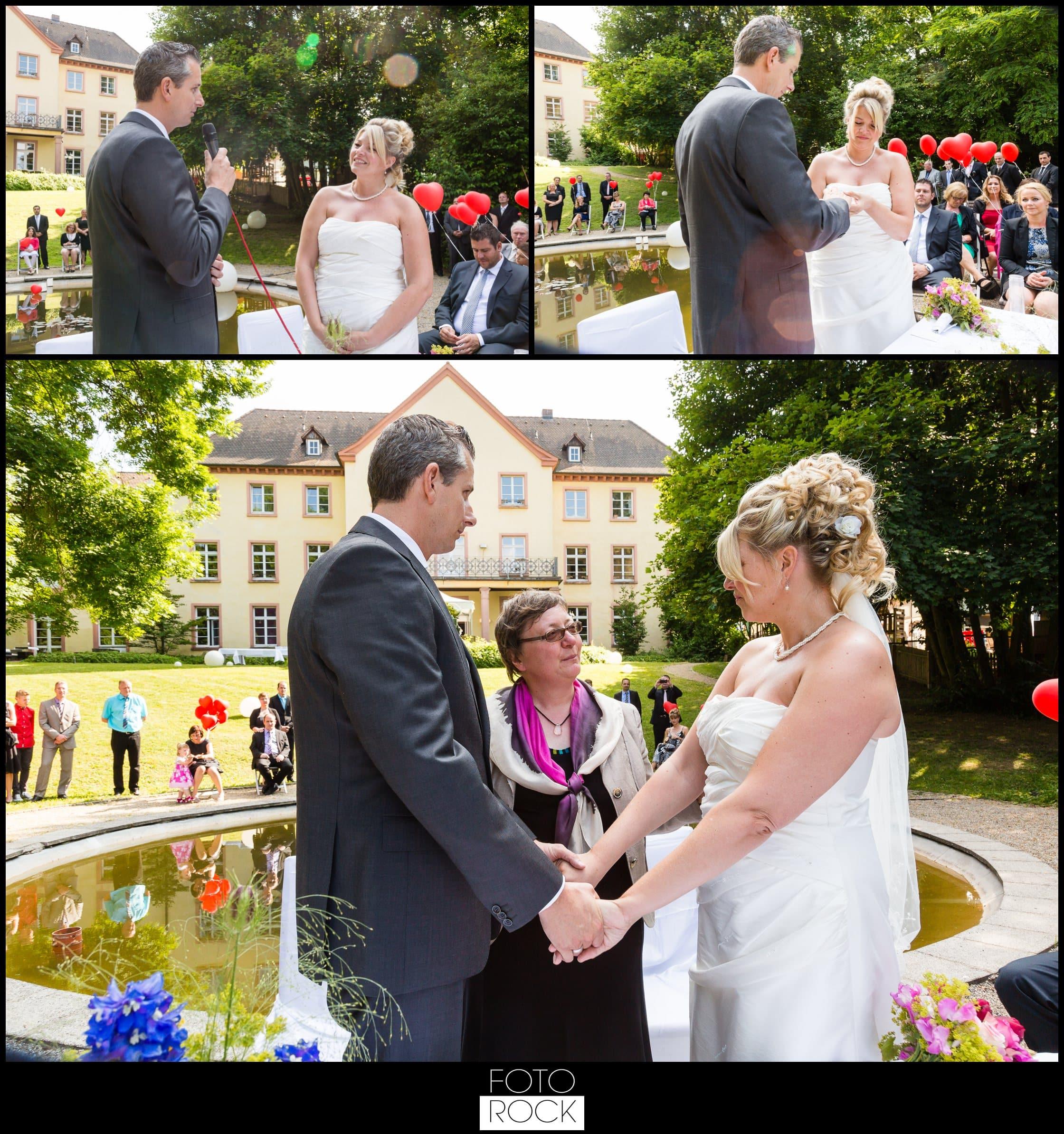 Hochzeit Jesuitenschloss Freiburg brautpaar trauung rede ringtausch