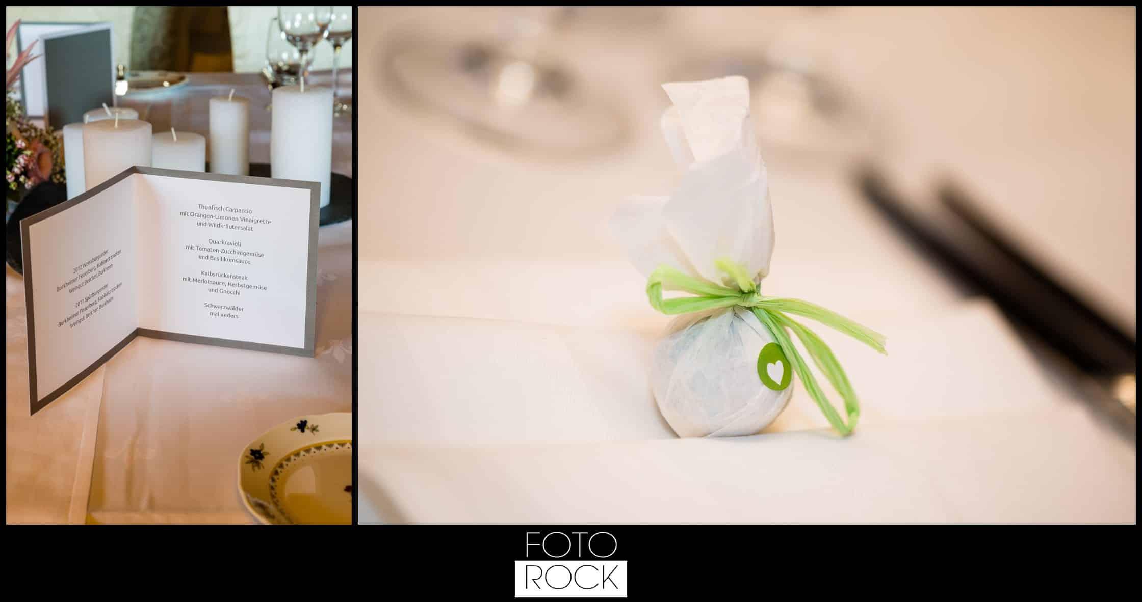 Hochzeit Adler Haeusern deko dekoration kerzen speisekarte