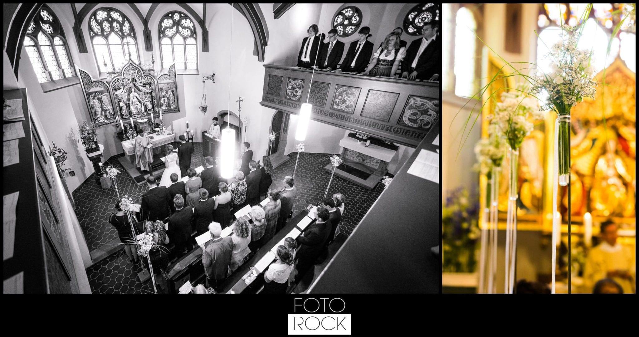 Hochzeit Elzach blumen deko kapelle trauung dekoration