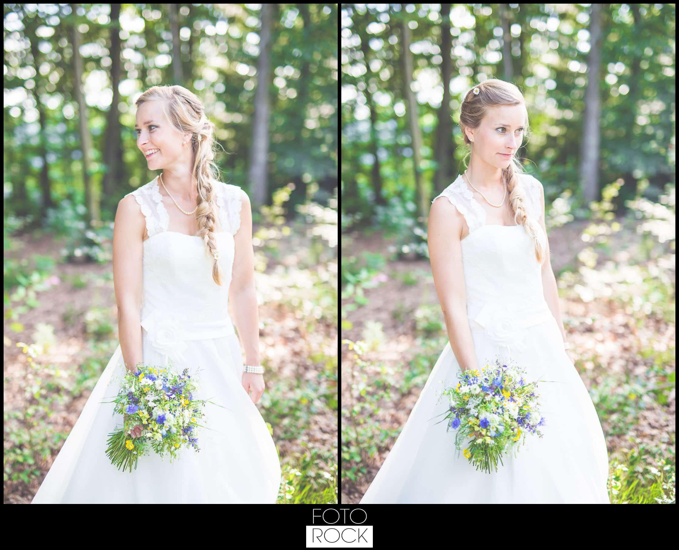Hochzeit Elzach braut wald brautstrauss