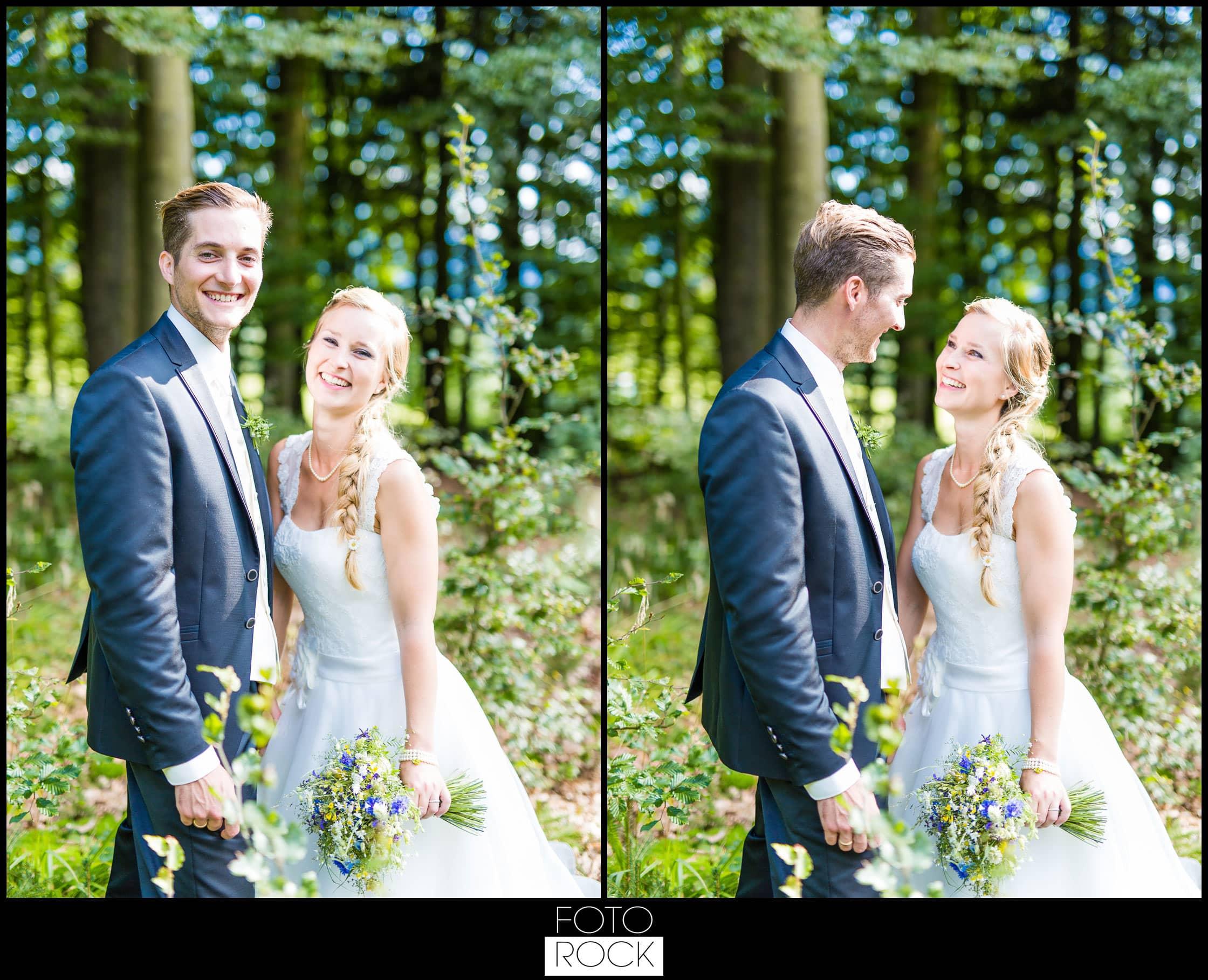 Hochzeit Elzach brautpaar wald