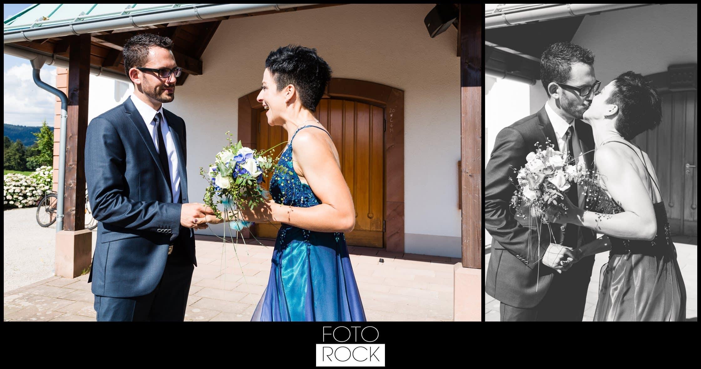 Hochzeit Dollenberg Bad Peterstal Brautpaar Kuss