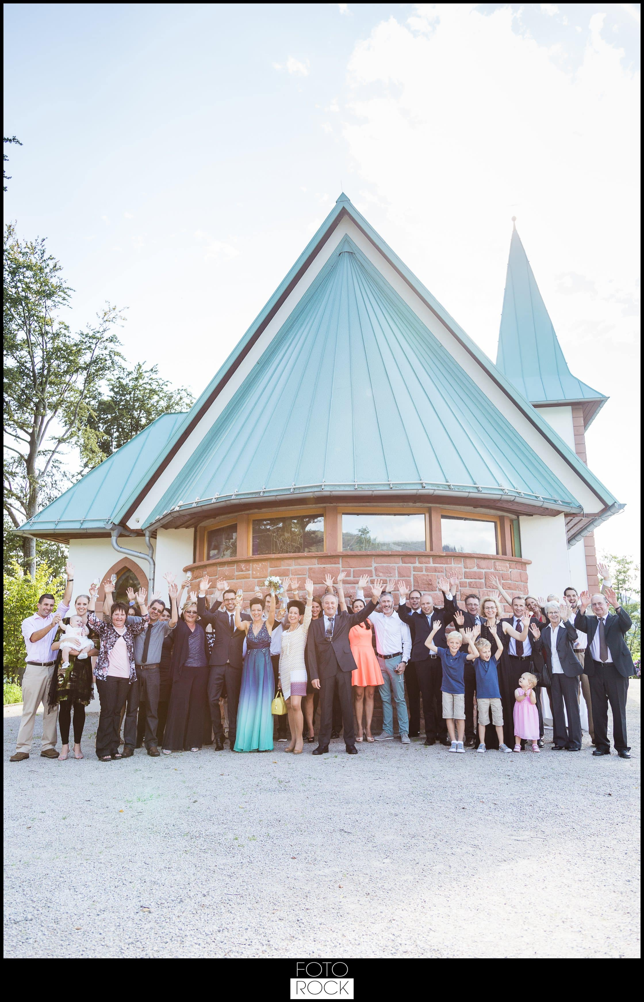 Hochzeit Dollenberg Bad Peterstal Kirche Gruppenbild