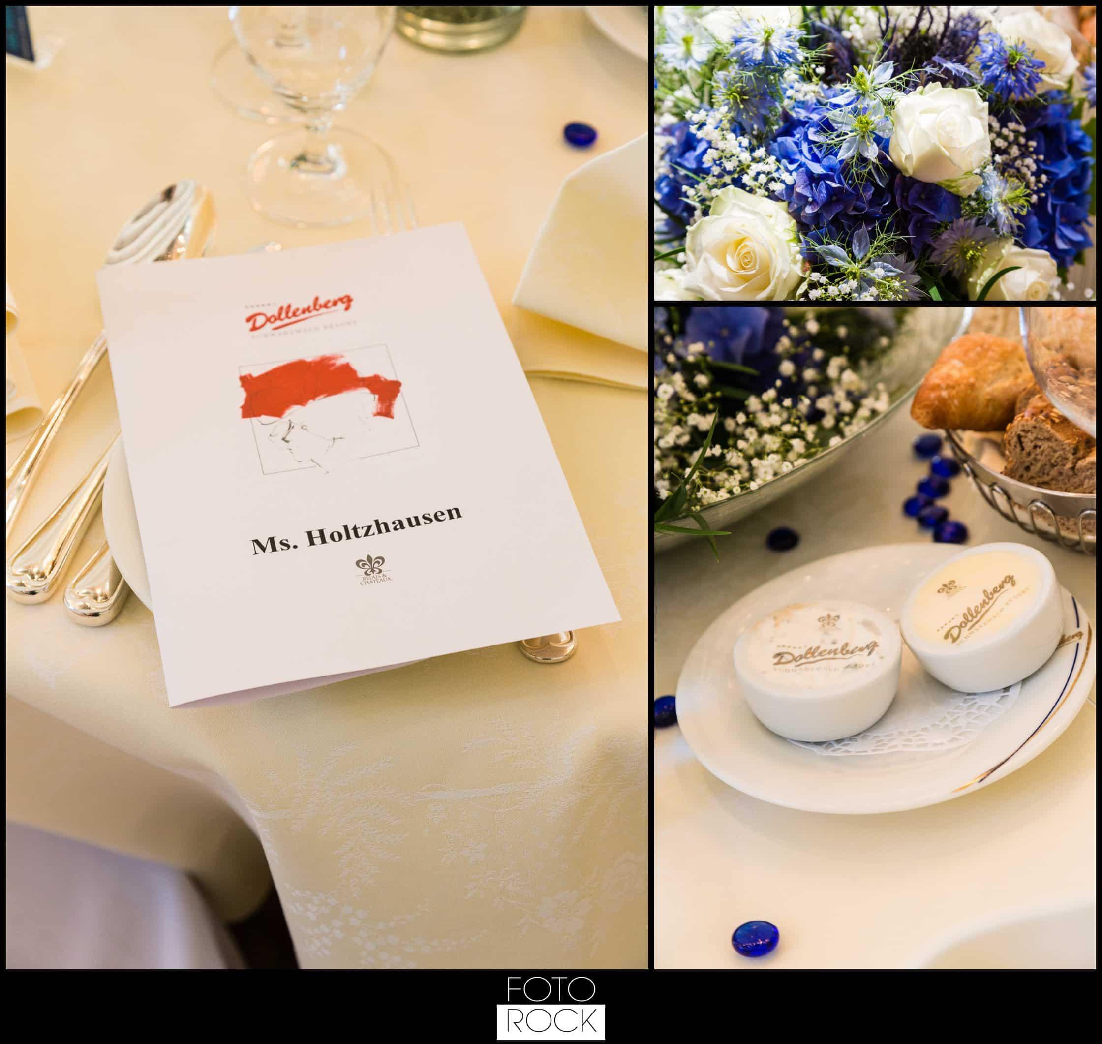 Hochzeit Dollenberg Bad Peterstal Blumen Papeterie Besteck Tisch Deko