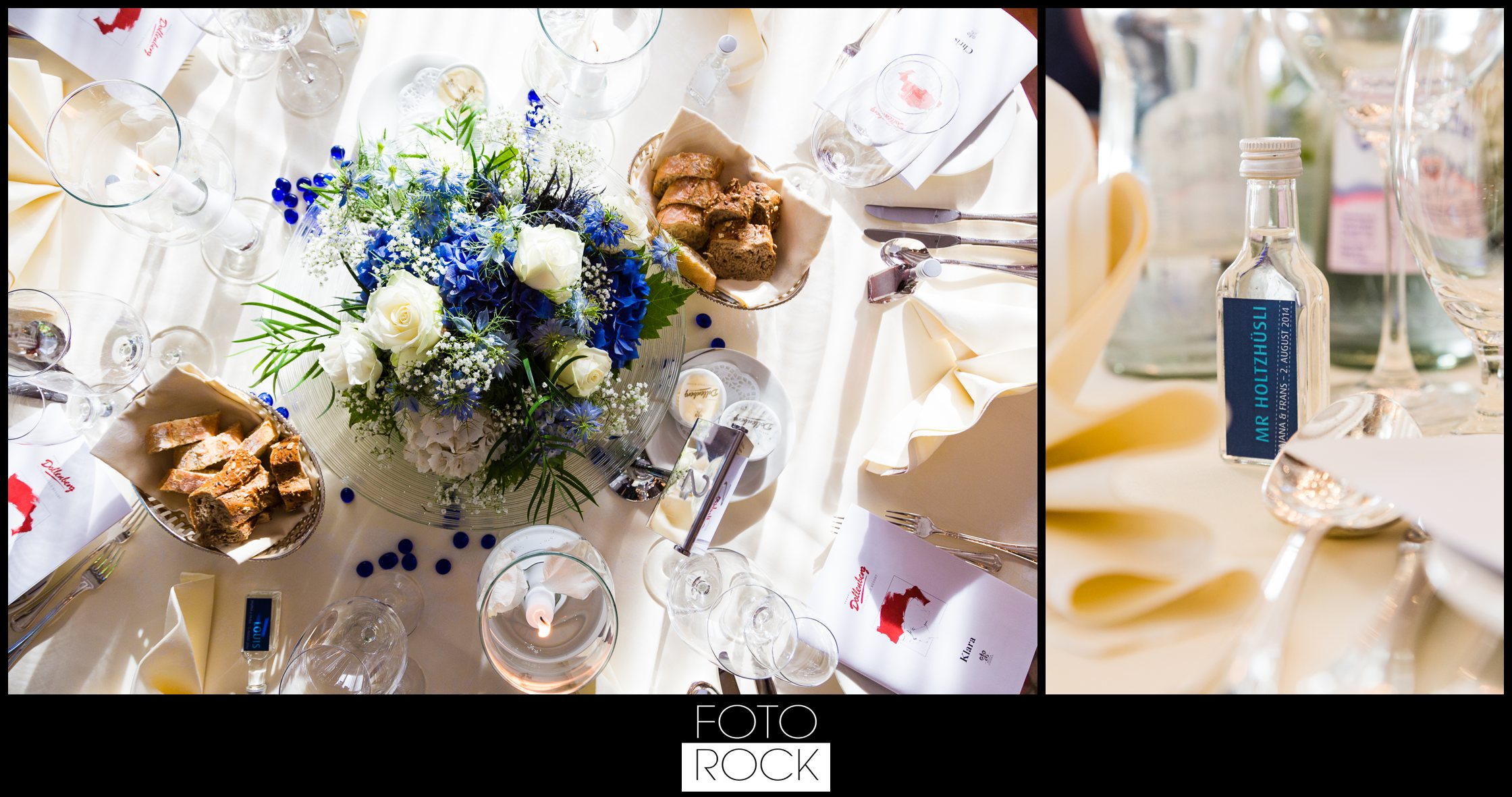 Hochzeit Dollenberg Bad Peterstal Deko Dekoration Tisc Blumen Kerzen Besteck