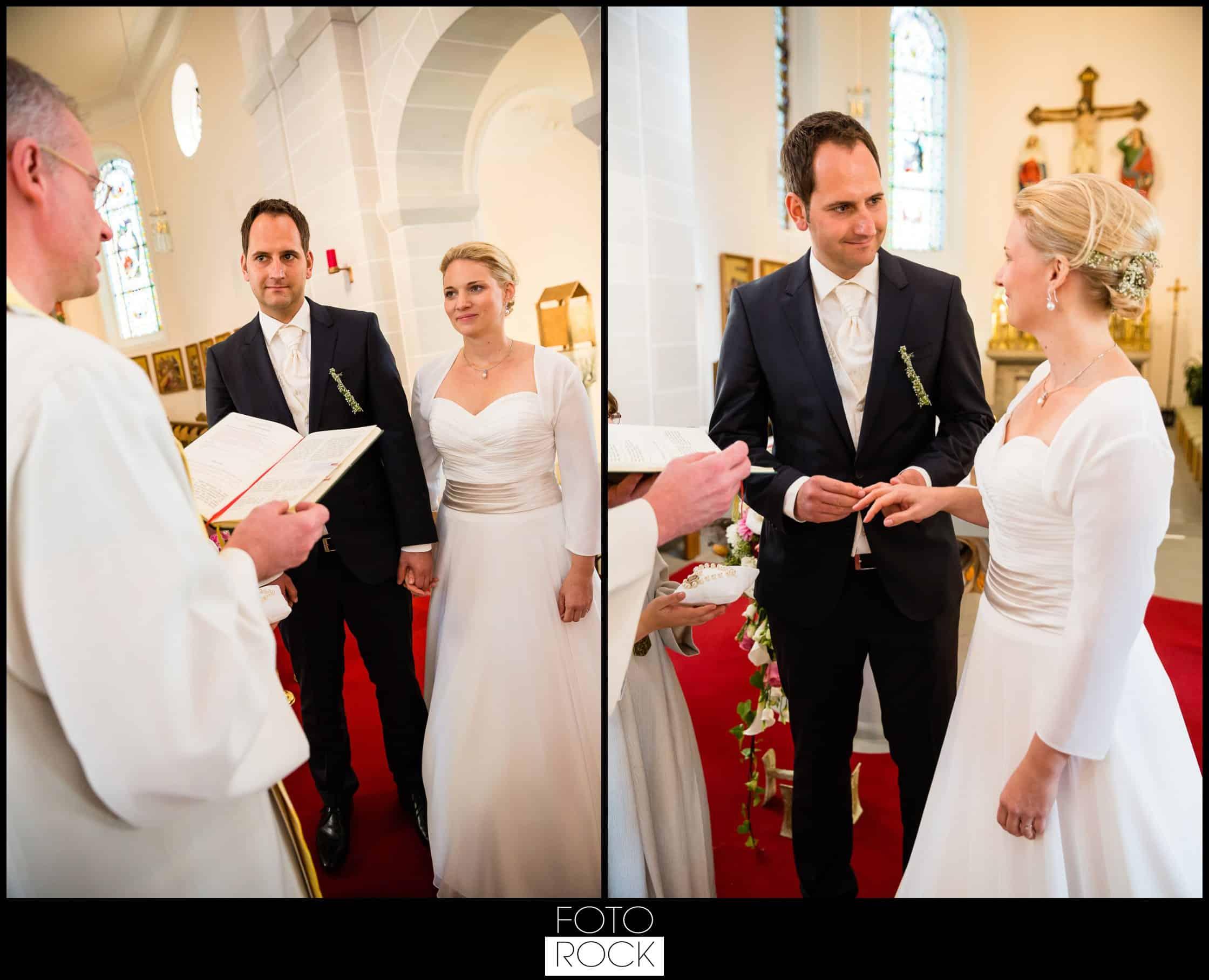Hochzeit Adler Haeusern brautpaar trauung ringtausch