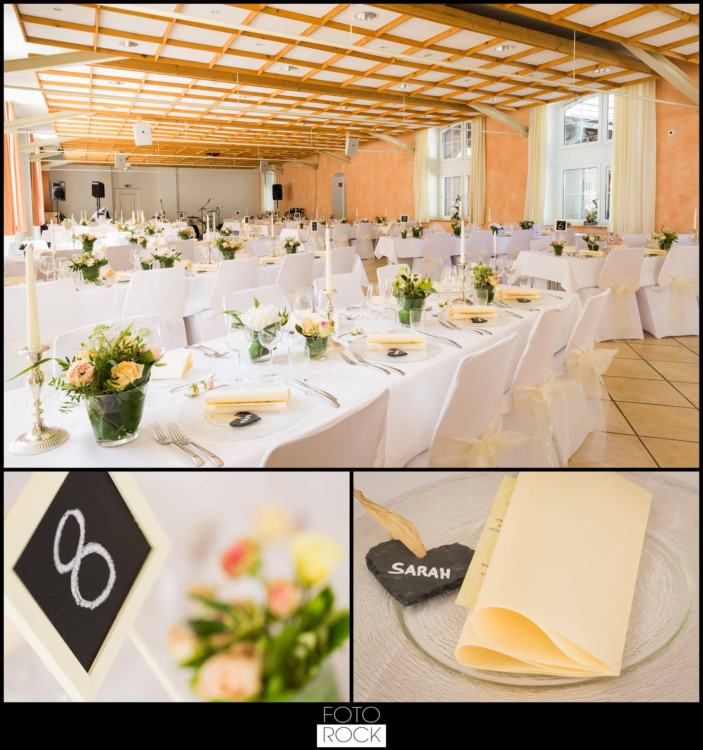 Hochzeit Lilienhof Ihringen Deko Dekoration Tische Stühle Blumen Kerzen