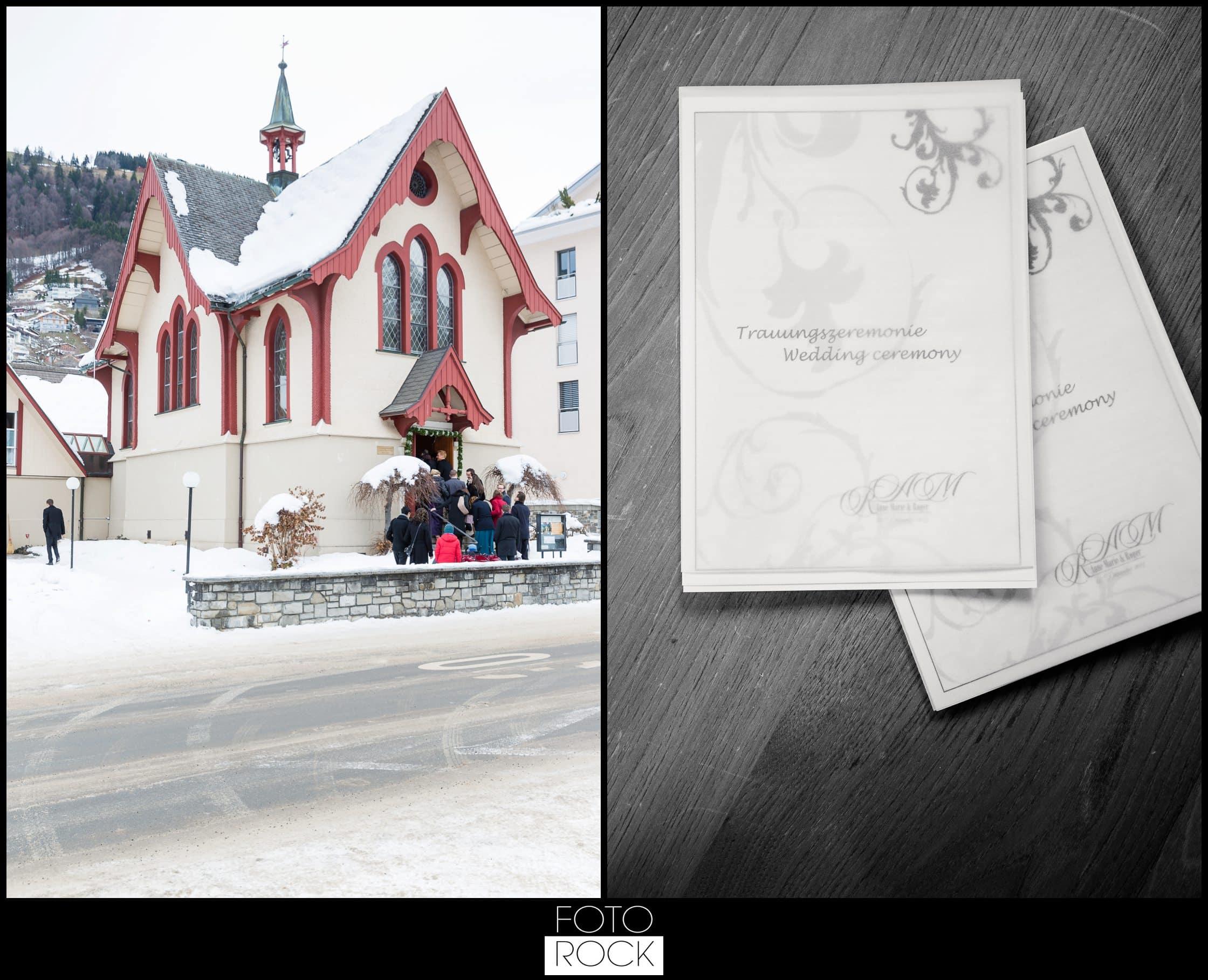 Hochzeit Winter Engelberg Braut Brautkleid
