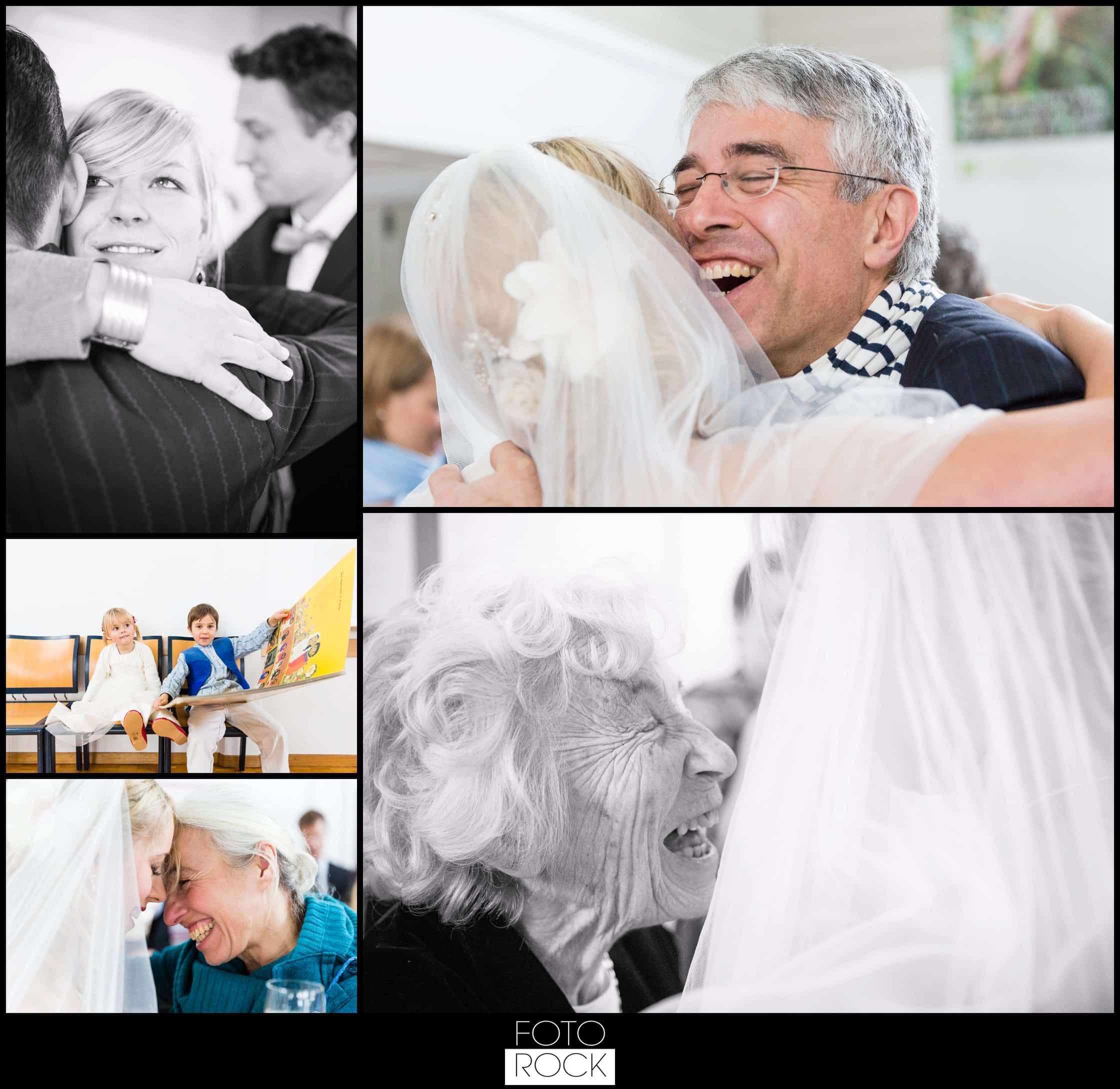 Hochzeit Winter Engelberg Gratulation Umarmung