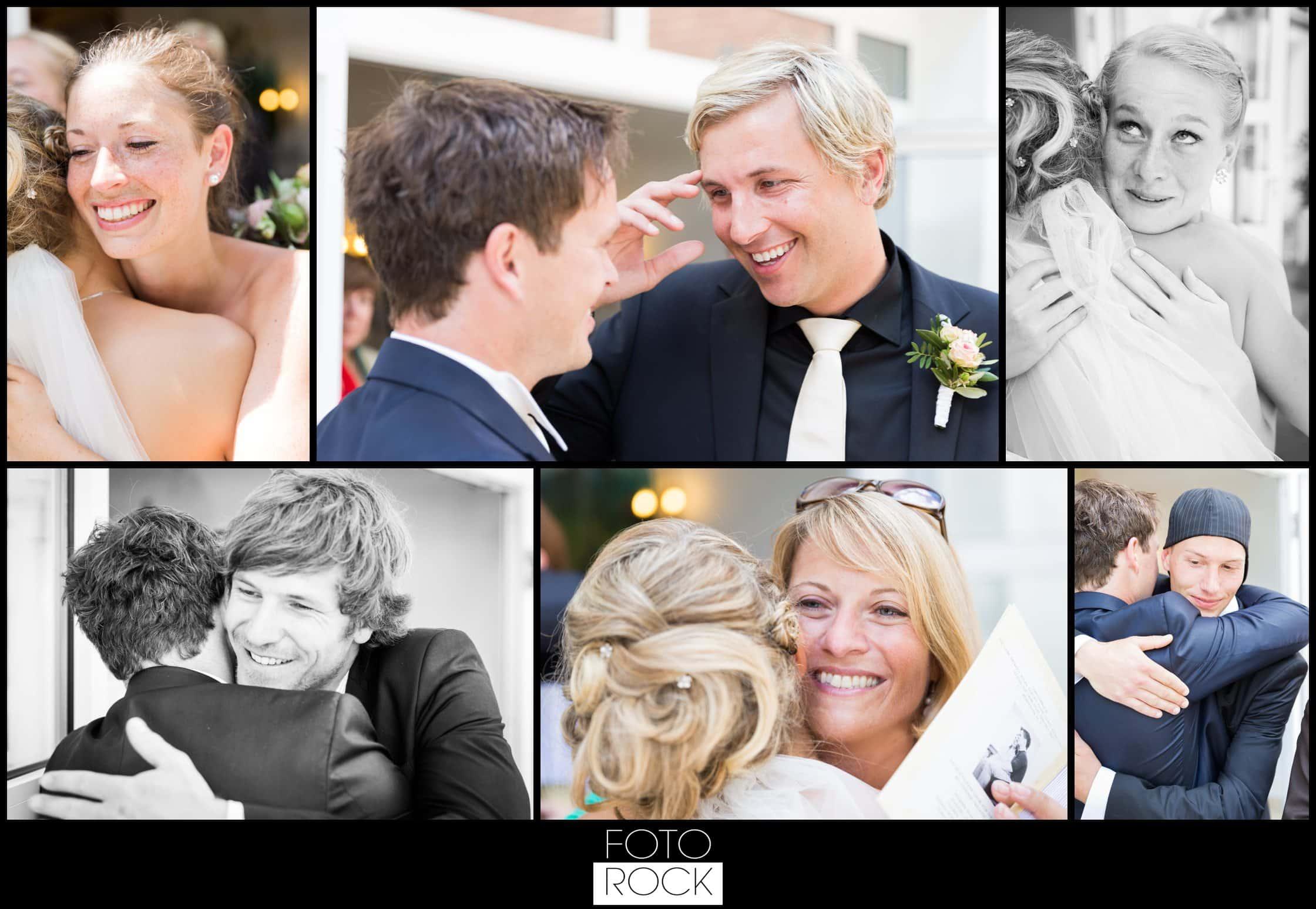 Hochzeit Lilienhof Ihringen Gratulation Umarmung Brautpaar