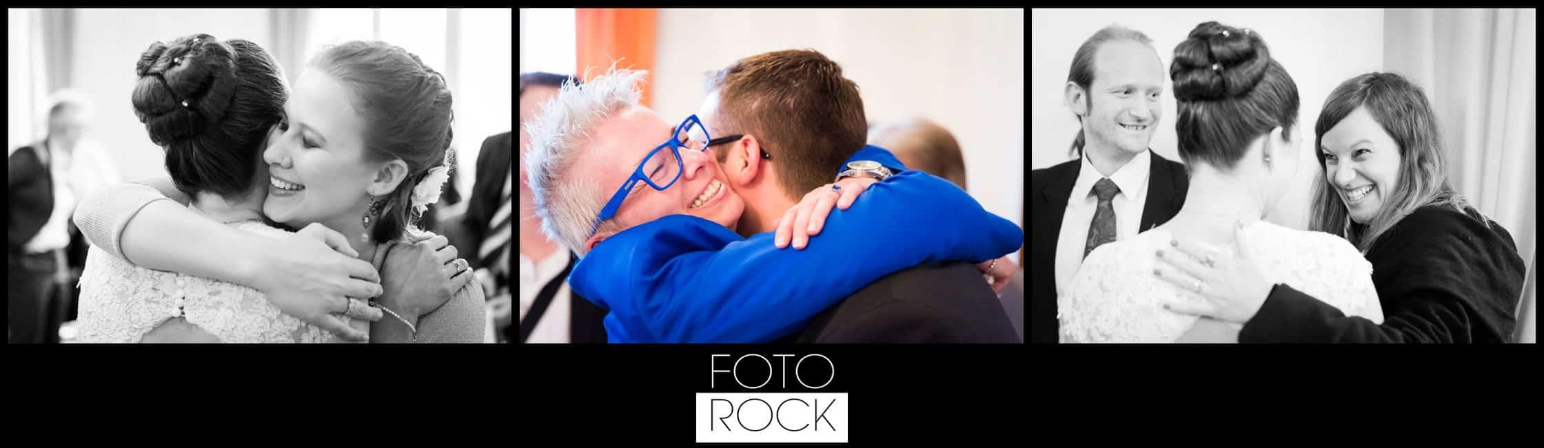 Hochzeit Vitra Design Museum Weil am Rhein Brautpaar Umarmung Glückwünsche