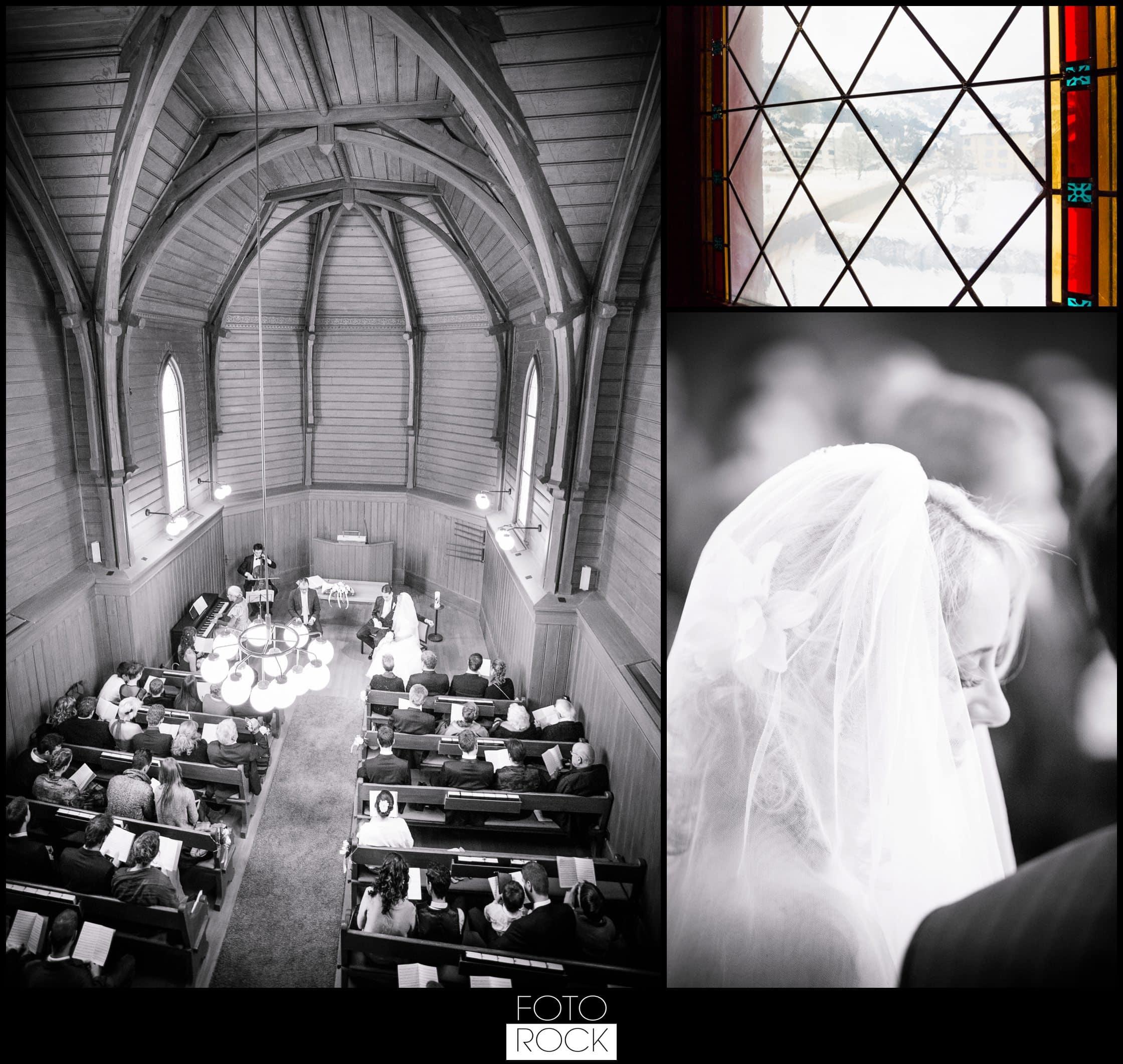 Hochzeit Winter Engelberg Kirche Blumen Brautpaar