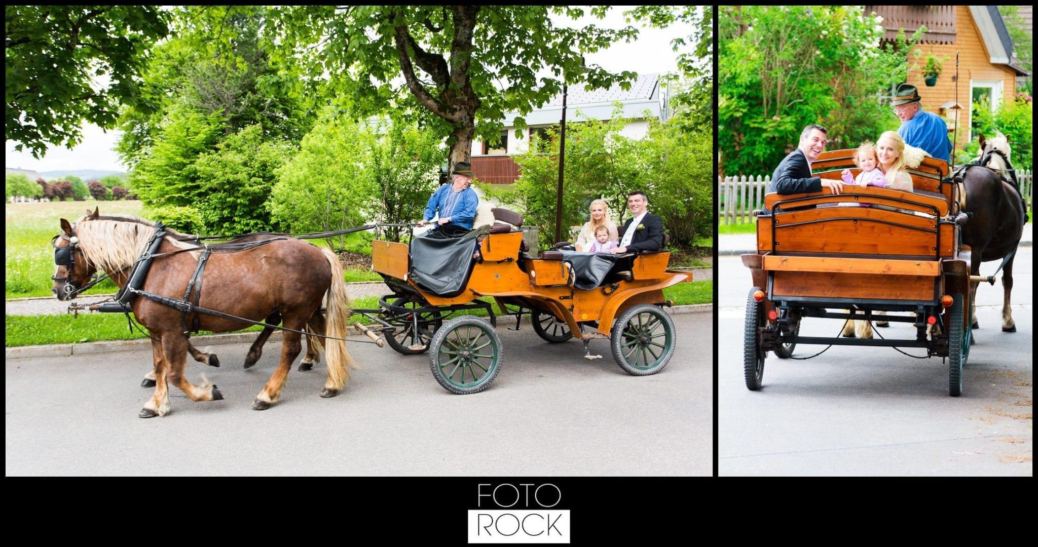 Hochzeit Parkhotel Adler kutsche pferde brautpaar
