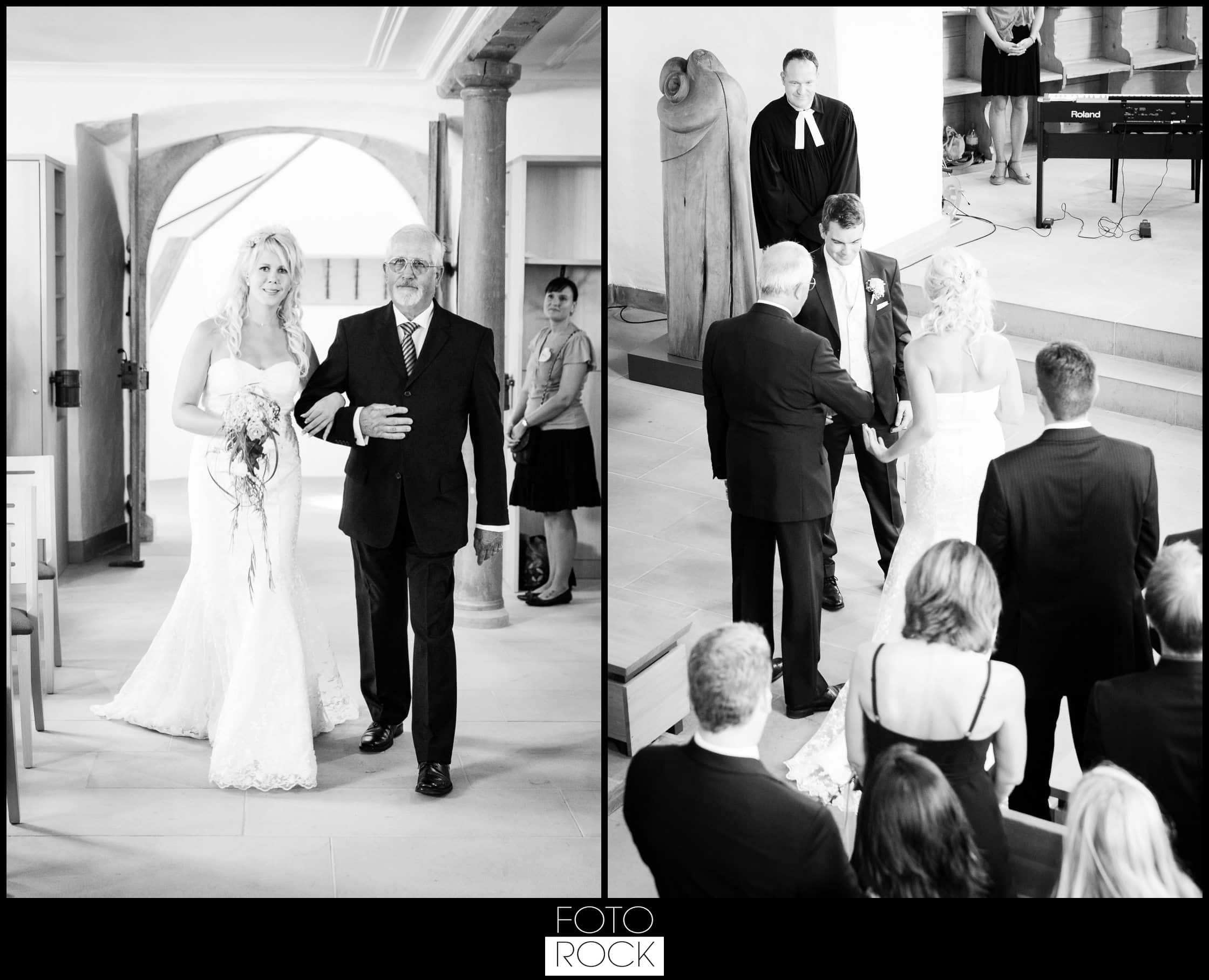 Hochzeit Rafz Albführen Kirche Brautpaar