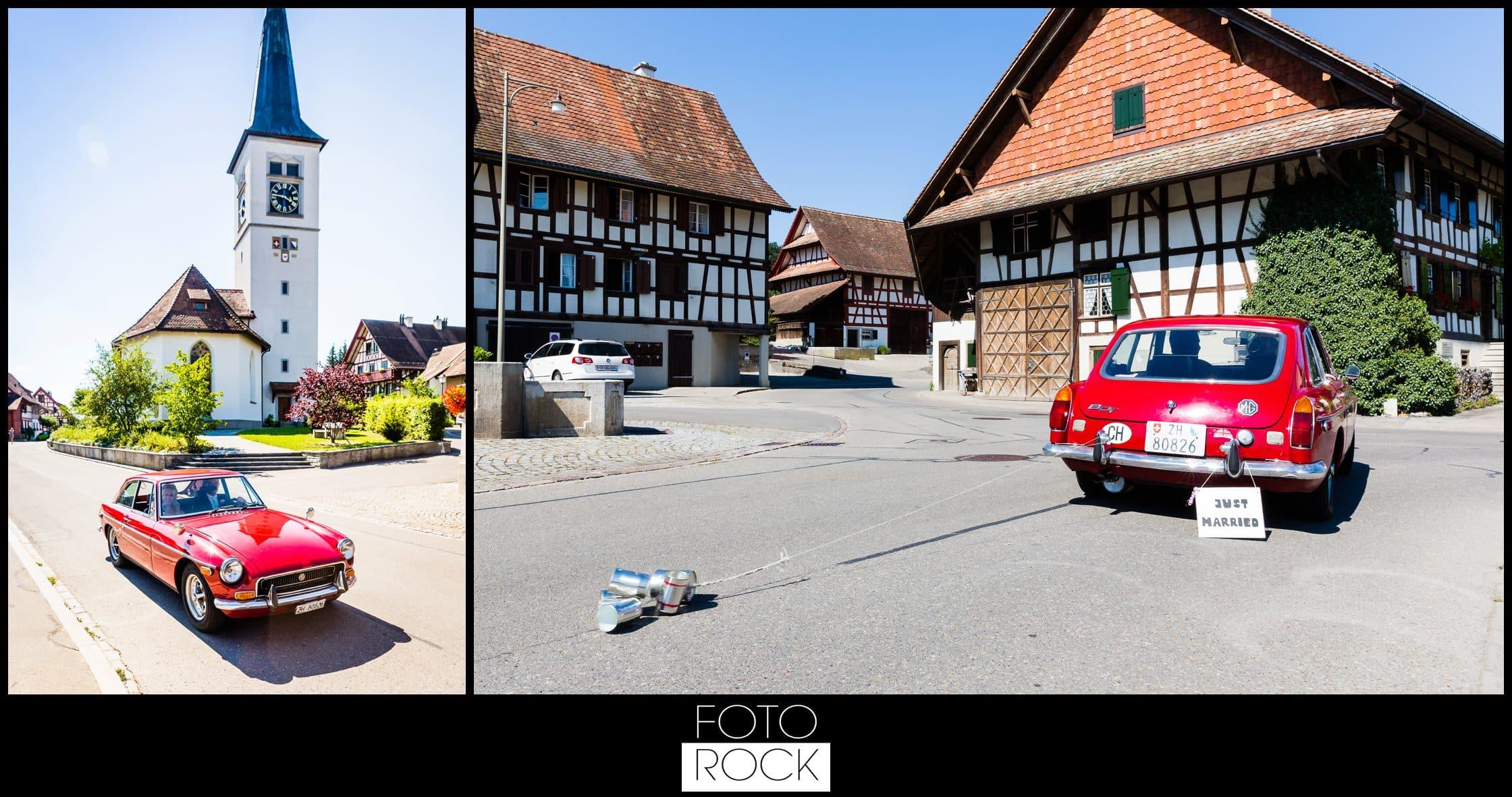 Hochzeit Rafz Albführen Kirche Location Auto