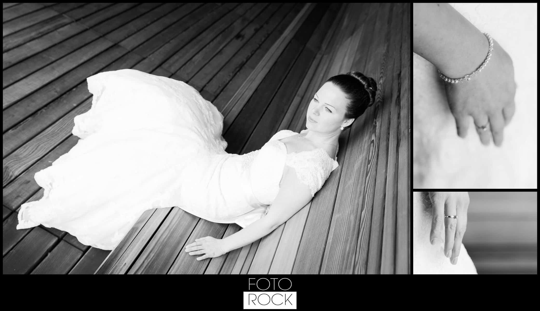 Hochzeit Vitra Design Museum Weil am Rhein Braut Sitzen Holz Schmuck Ring Brautkleid