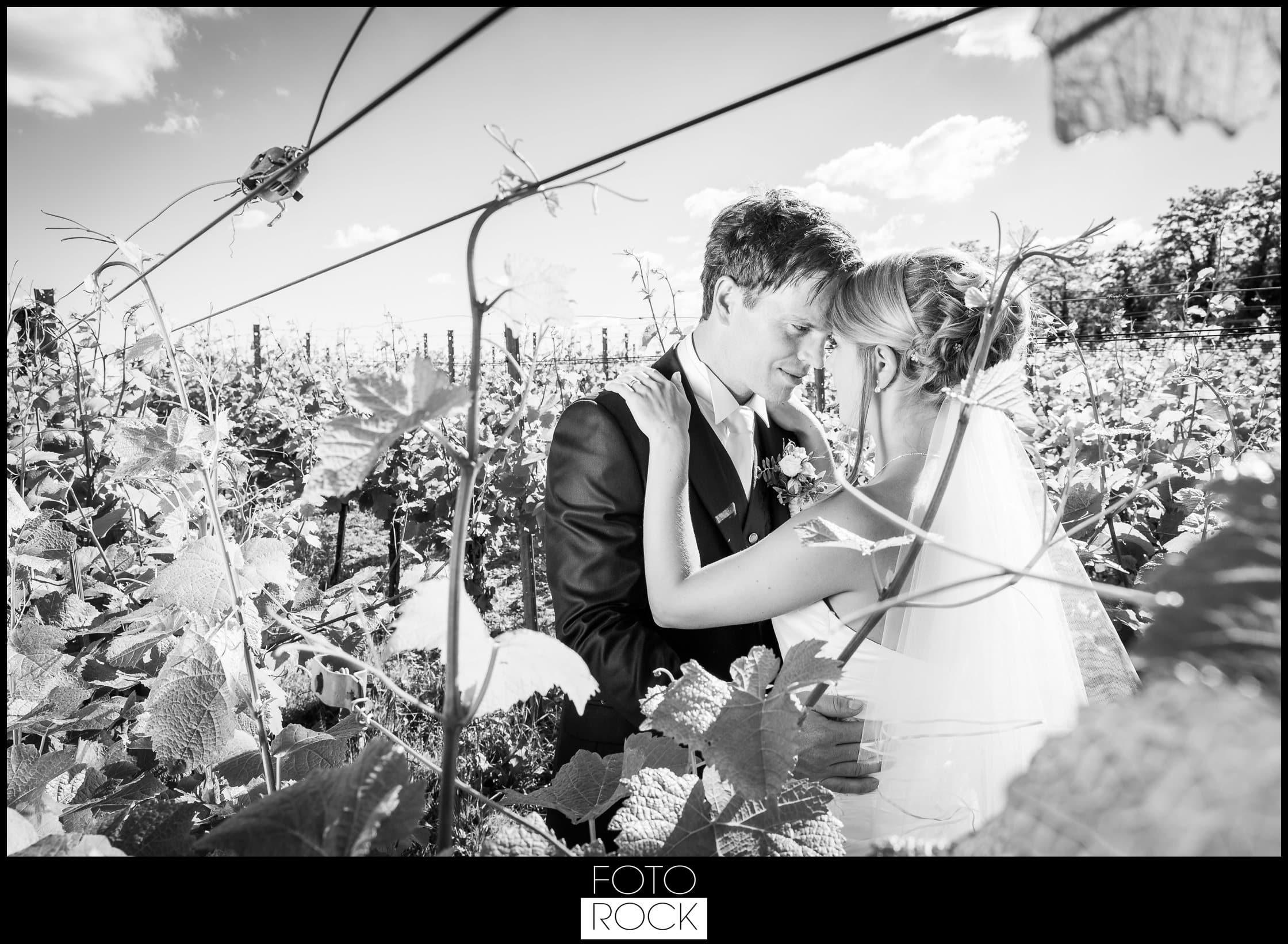 Hochzeit Lilienhof Ihringen Brautpaar Weinreben