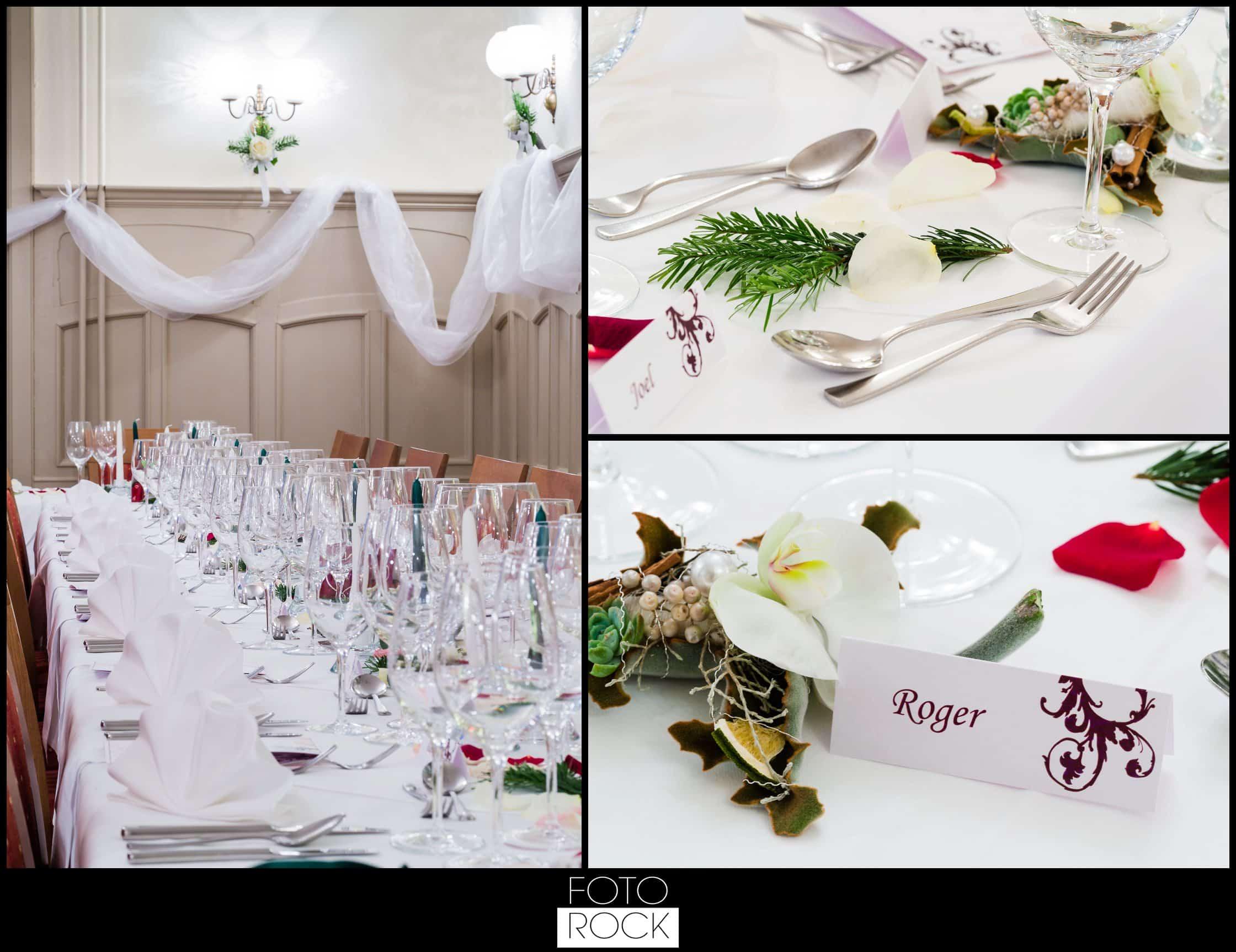 Hochzeit Winter Engelberg Deko Dekoration Blumen Gläser Tische Besteck