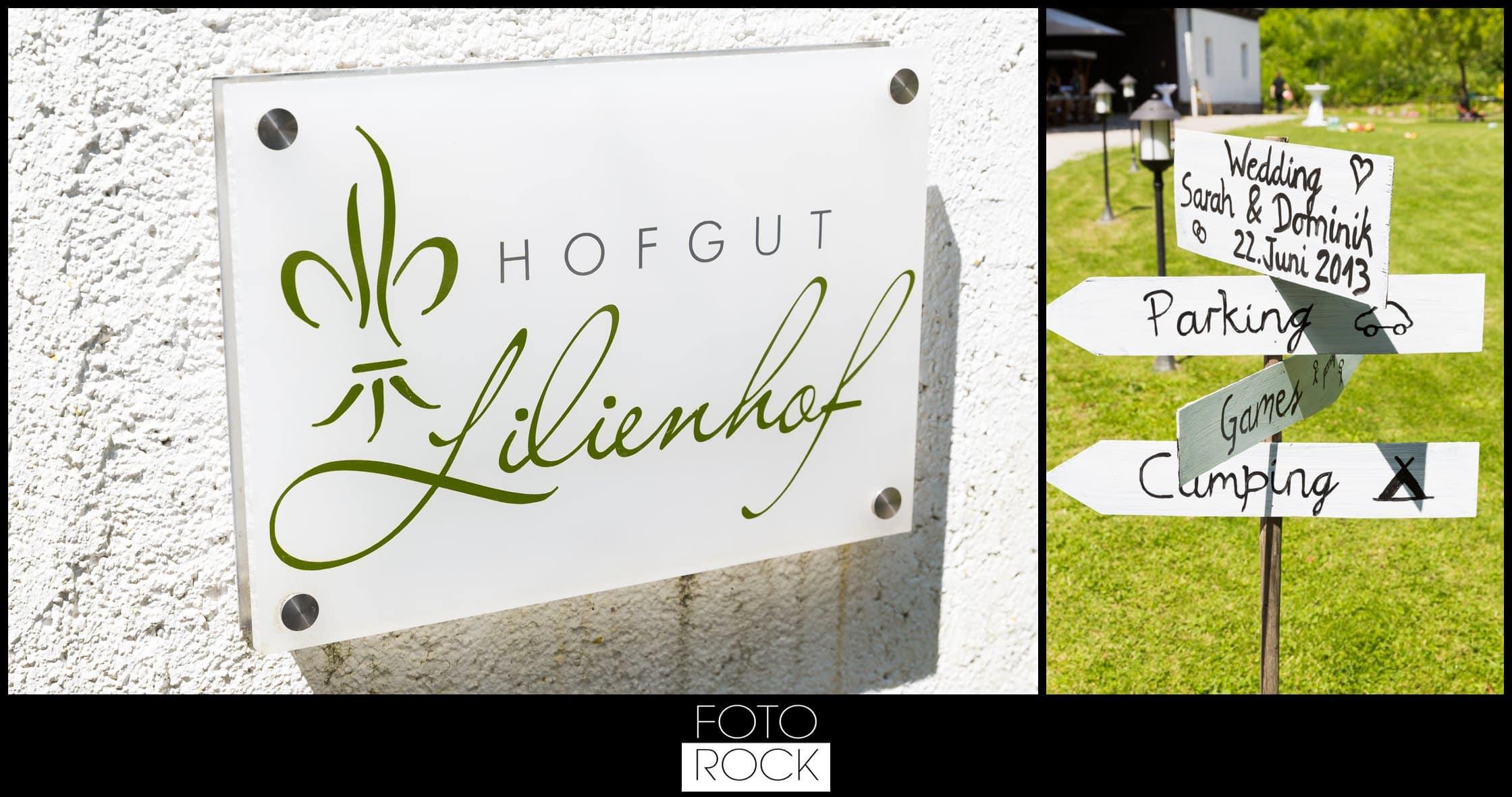 Hochzeit Lilienhof Ihringen Deko Wegweiser