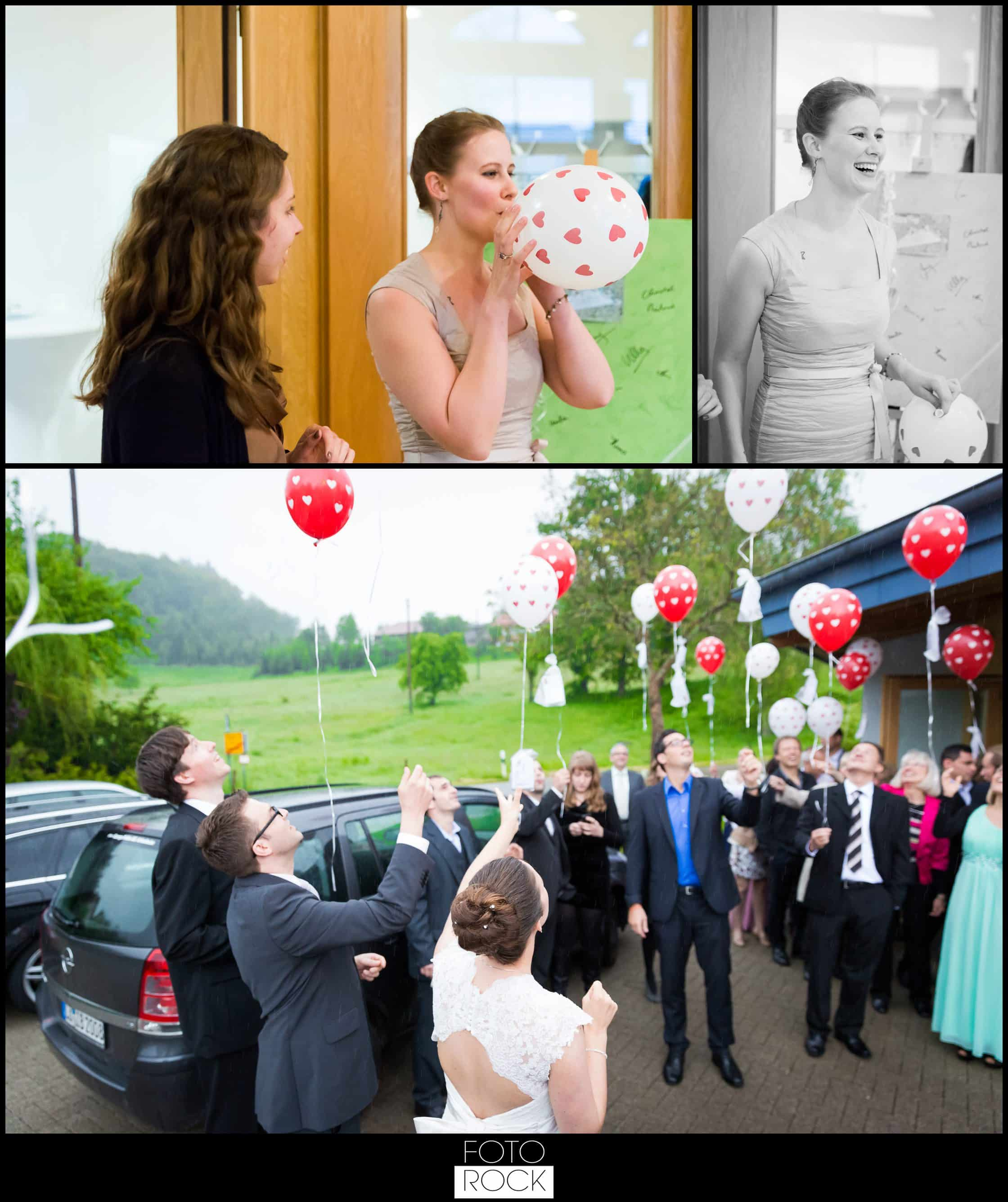 Hochzeit Vitra Design Museum Weil am Rhein Luftballons Outdoor