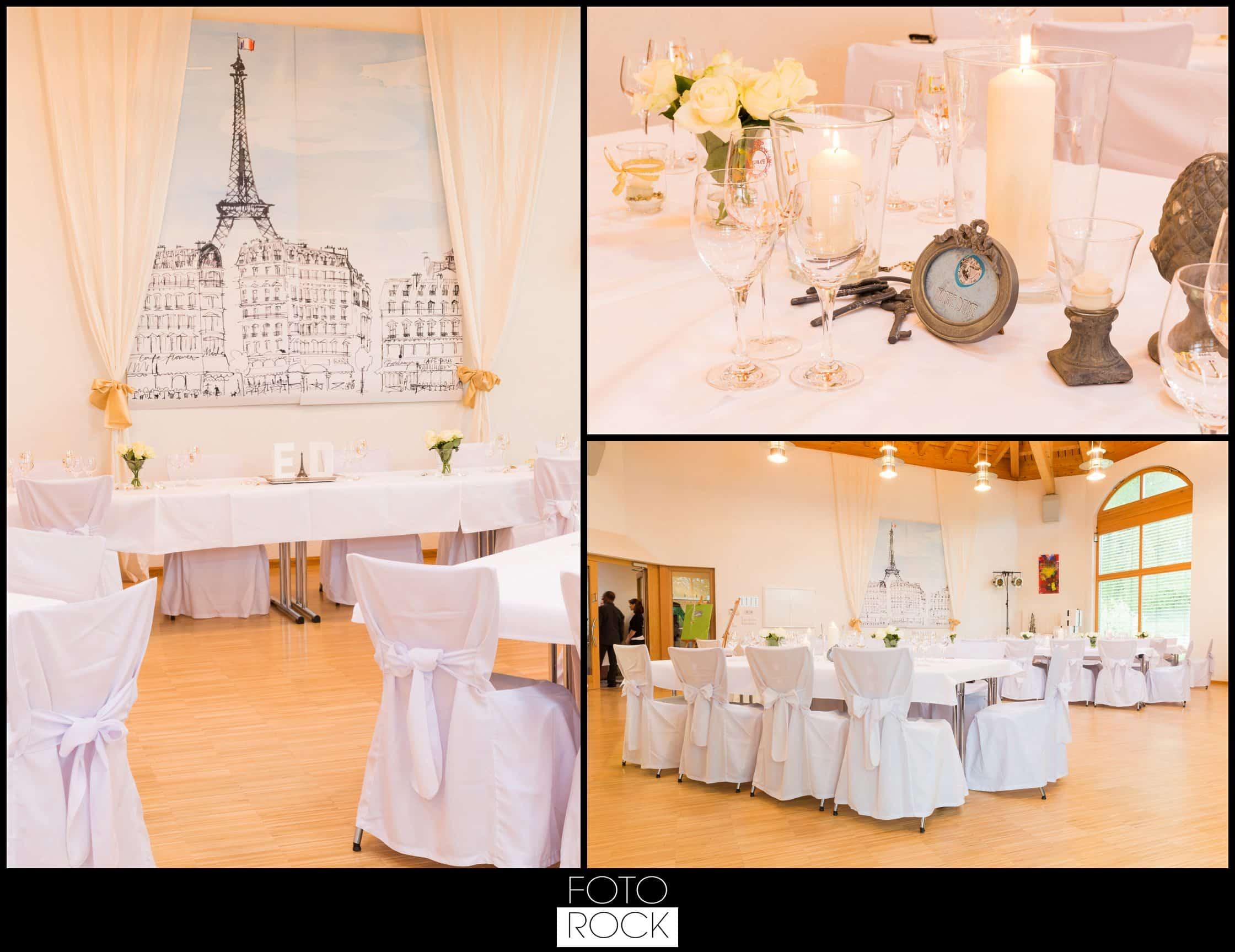 Hochzeit Vitra Design Museum Weil am Rhein Location Stühle Deko Dekoration Blumen Kerzen