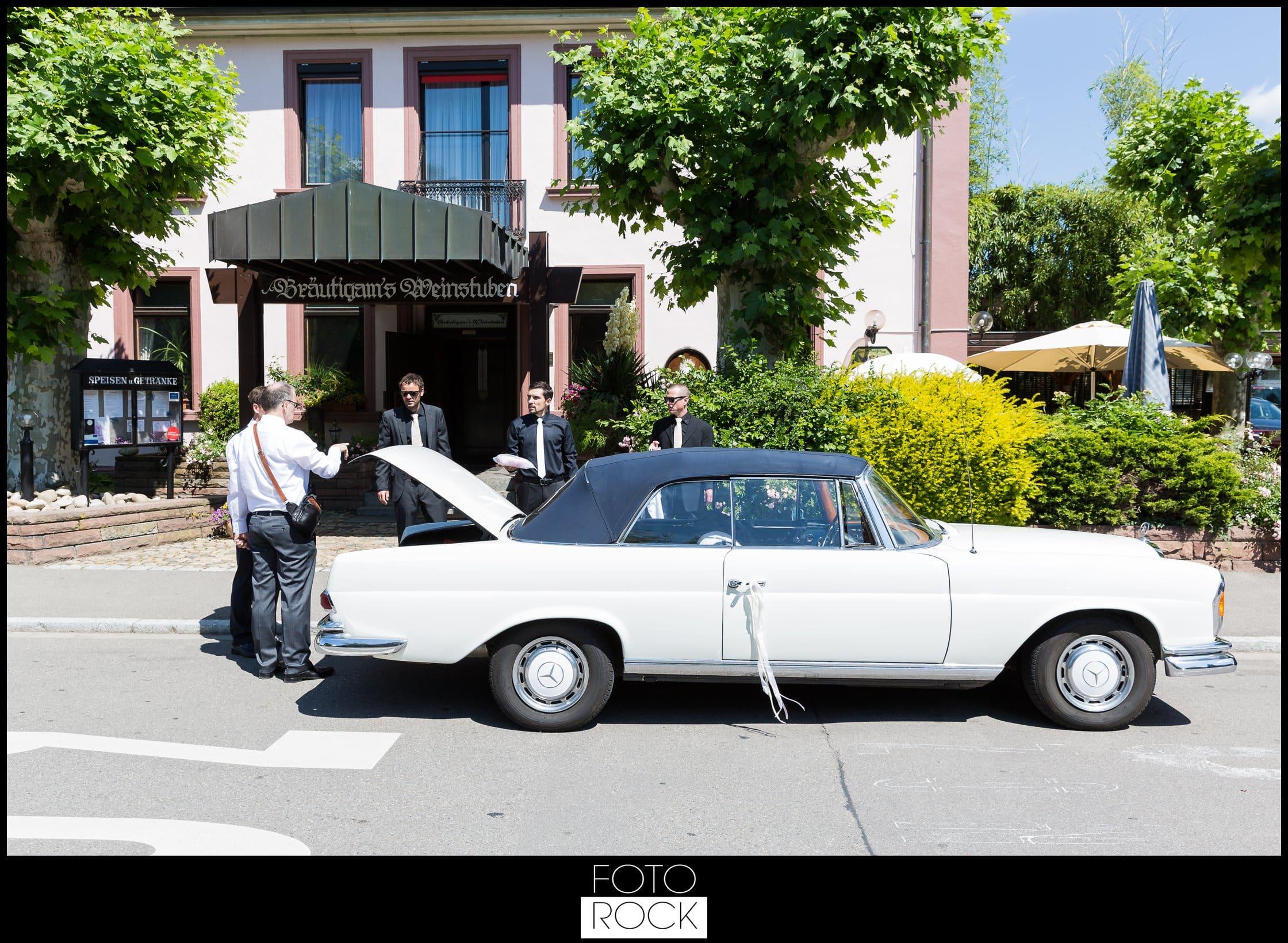 Hochzeit Lilienhof Ihringen Weinstube Oldtimer Auto
