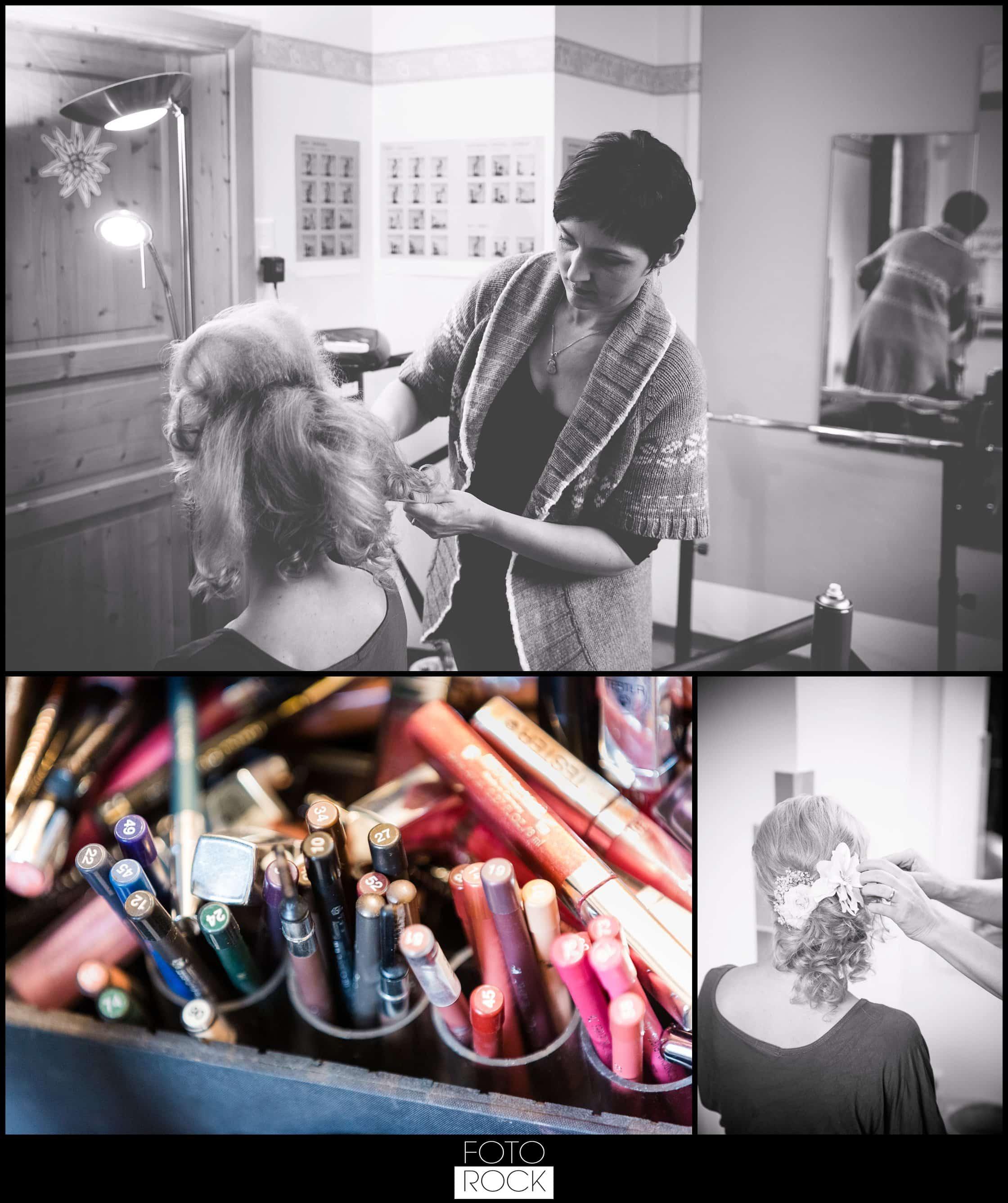 Hochzeit Winter Engelberg Styling Makeup Schminke Getting Ready