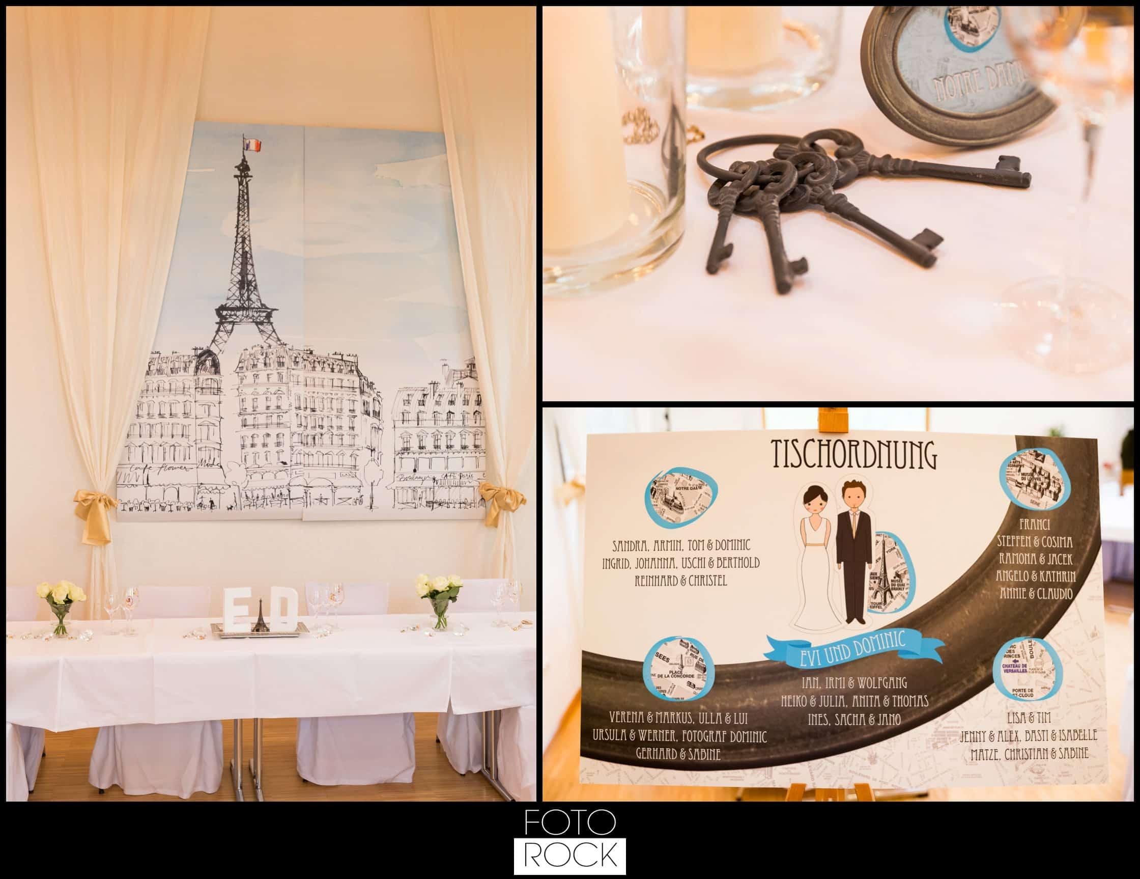 Hochzeit Vitra Design Museum Weil am Rhein Location Stühle Deko Dekoration Blumen Kerzen Schlüssel Sitzordnung Tischordnung