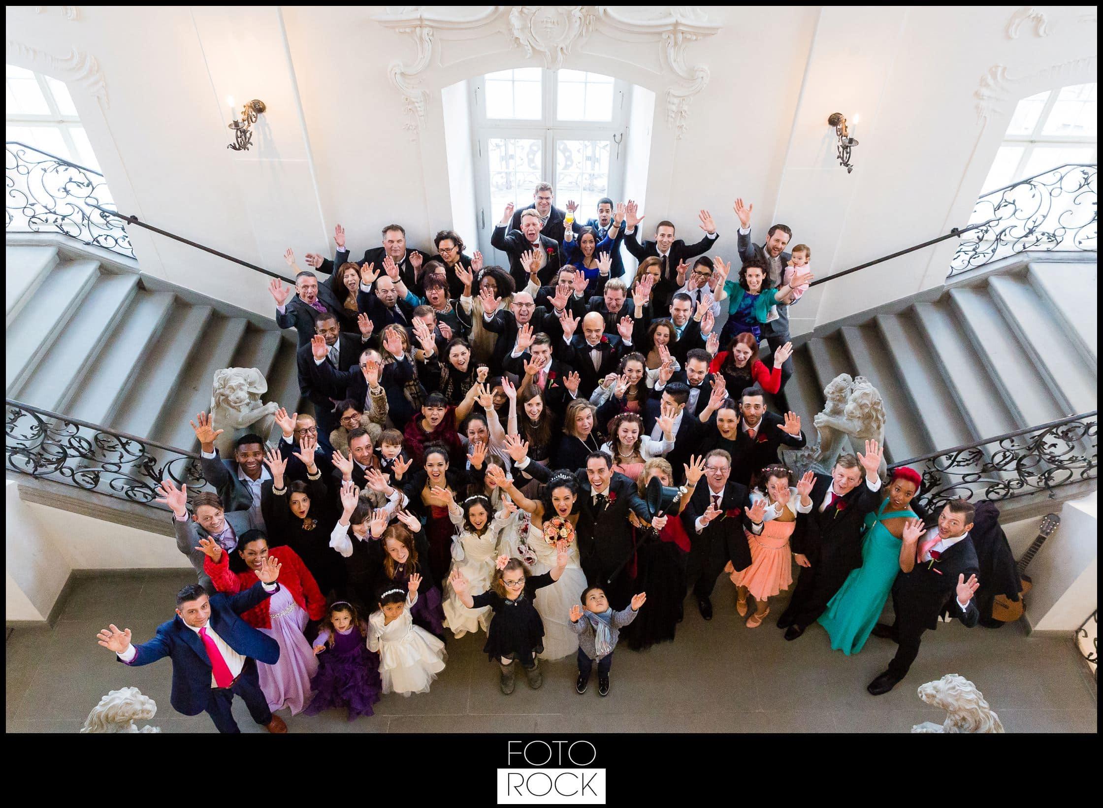 Hochzeit Schloss Meersburg Montfort Bodensee gruppenbild