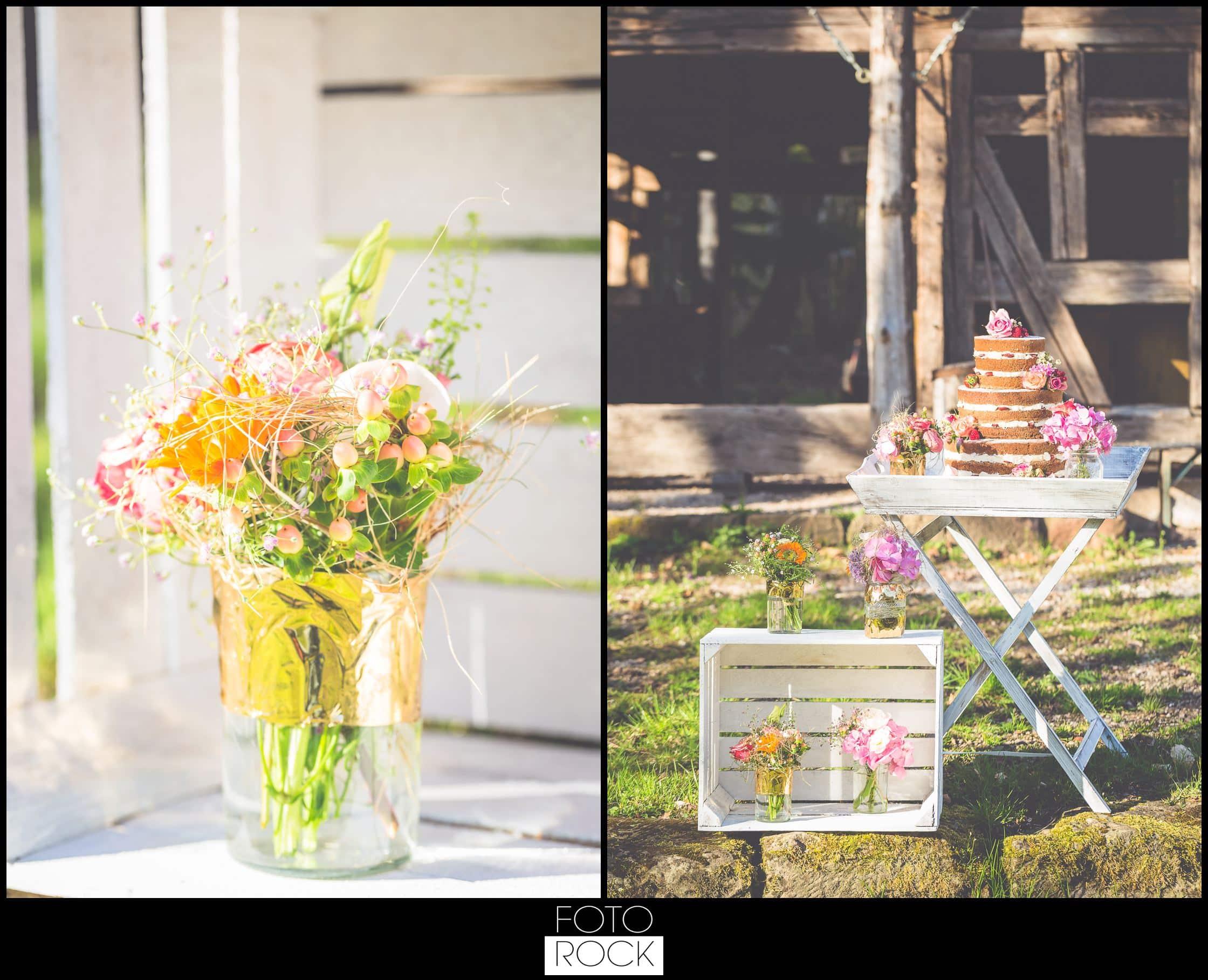 Bohemian Syled Shoot Hochzeit Klausenbauernhof Wolfach Blumen Hochzeitstorte Outdoor Scheune