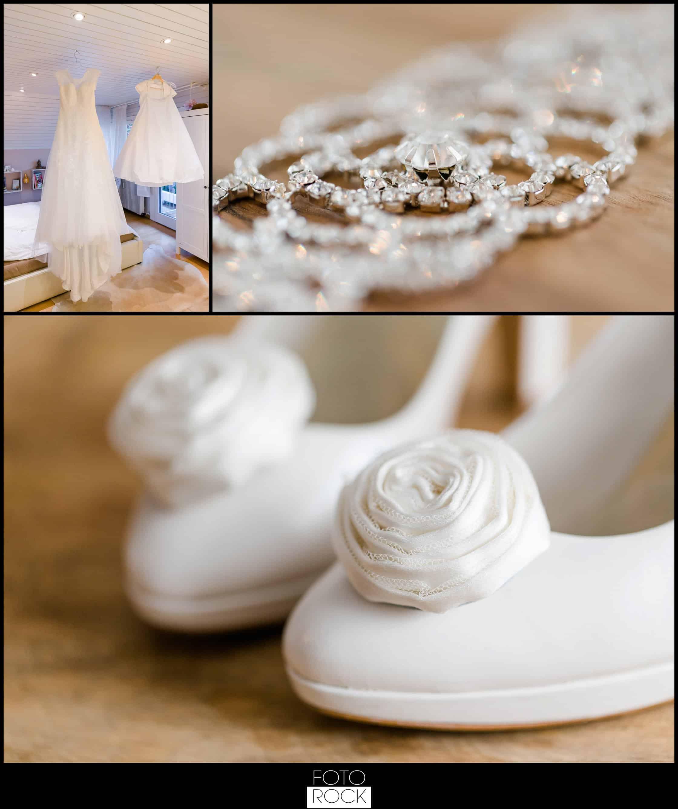 Hochzeit Lilienhof Ihringen Brautkleid Schmuck Schuhe