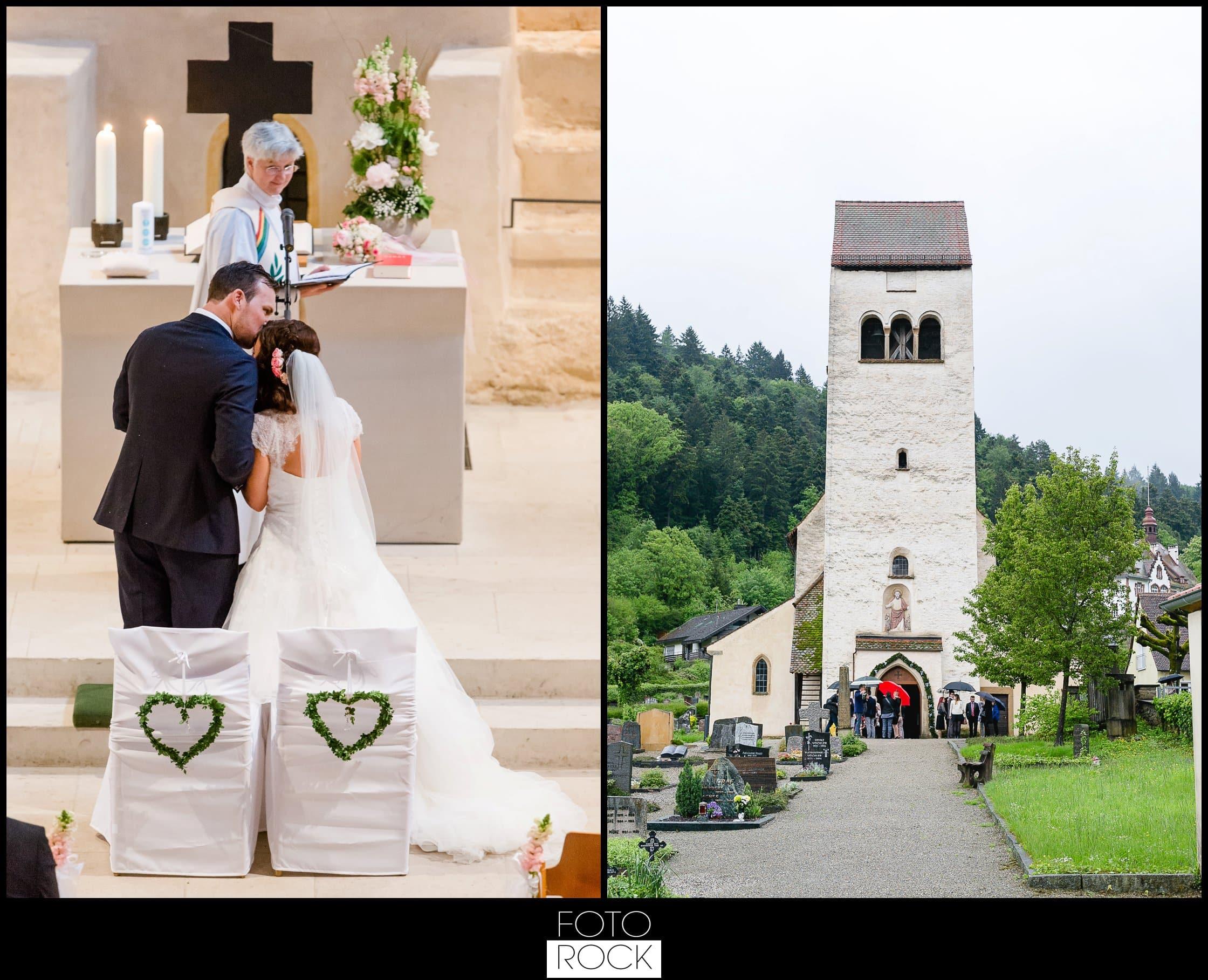 Hochzeit Lilienhof Ihringen Brautpaar Kirche Trauung Wedding Chairs Blumen