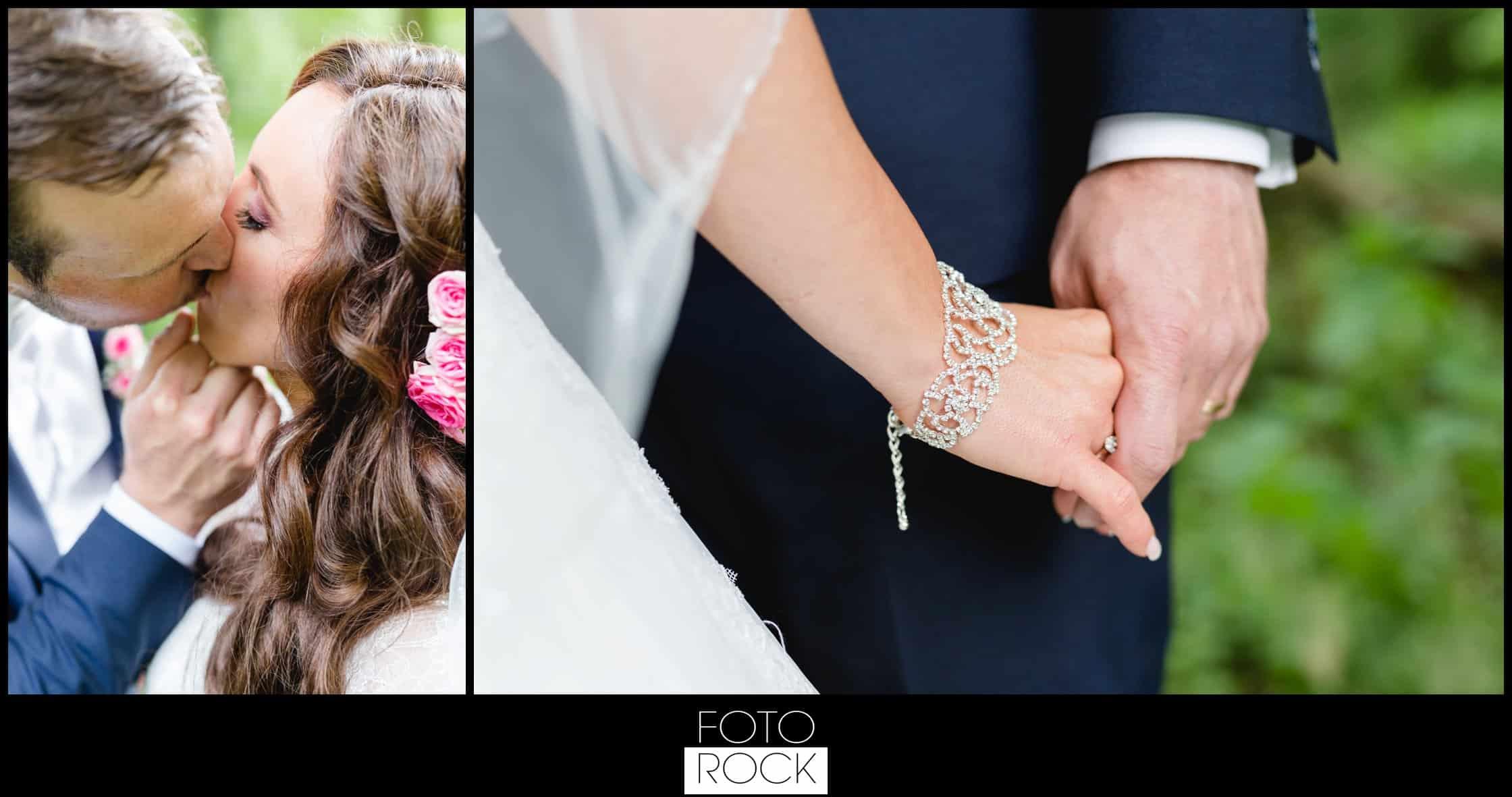 Hochzeit Lilienhof Ihringen Fotoshooting Photoshooting Brautpaar Kuss Wald